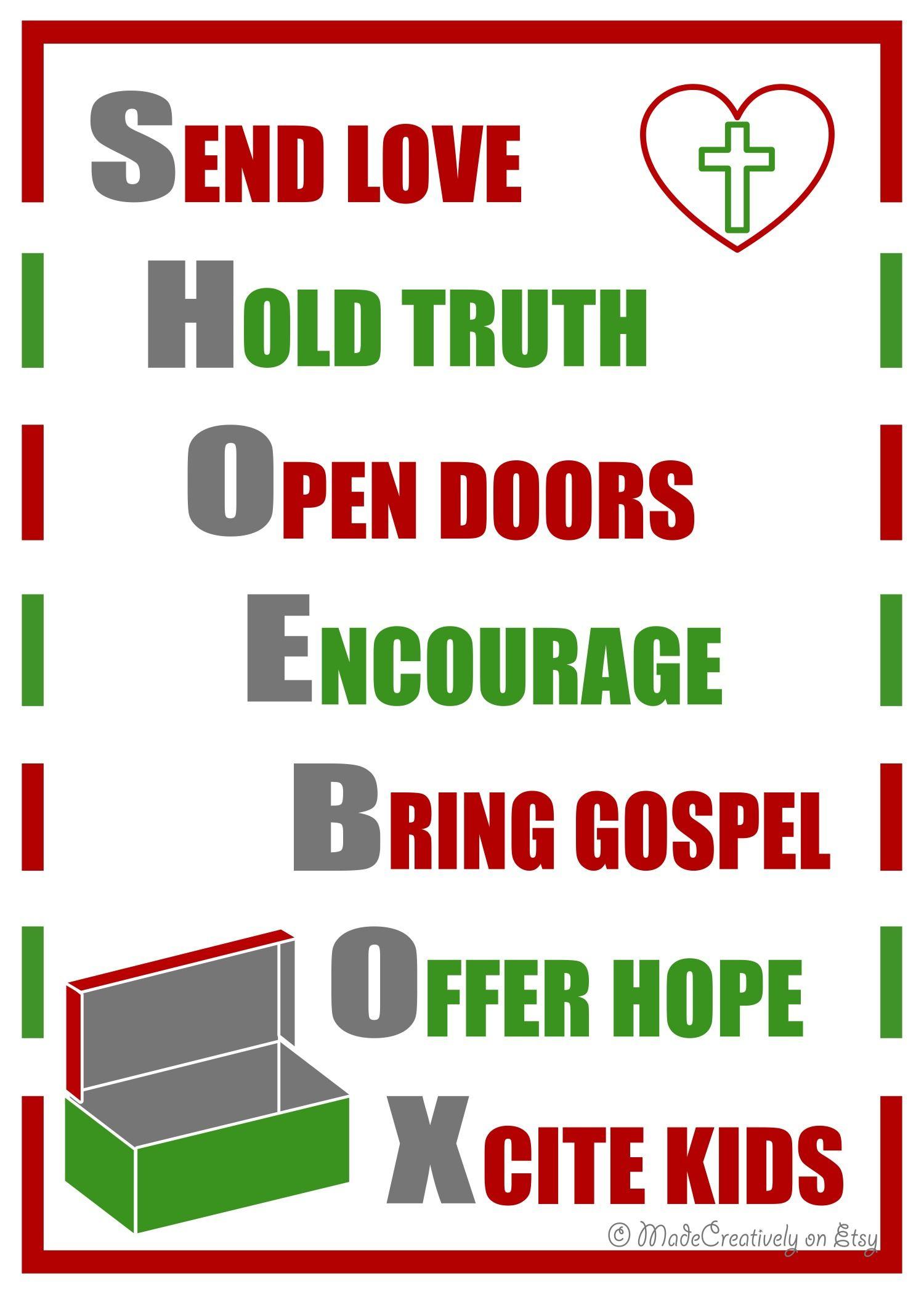 Operation Christmas Child Letter Template - Digital Shoebox Poster Pinterest