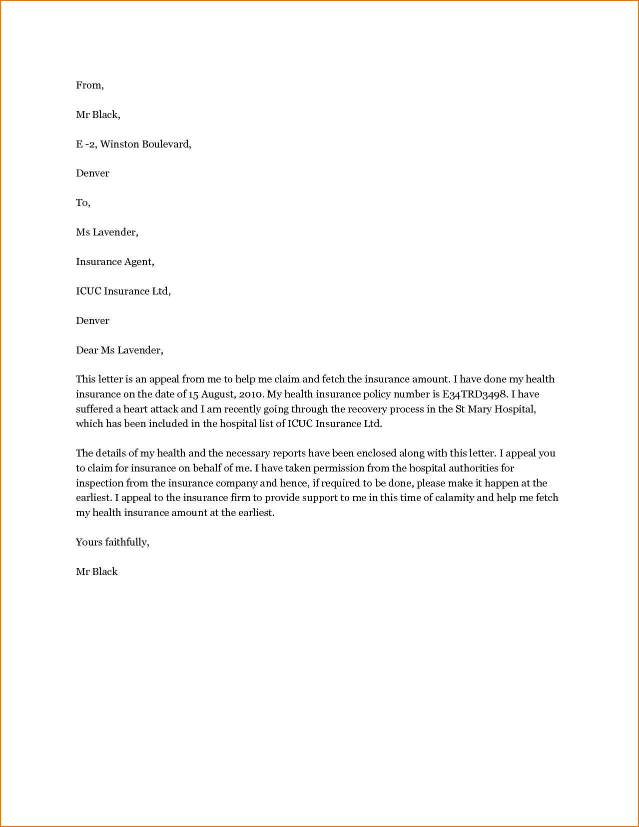 Disability Insurance Appeal Letter Template - Disability Appeal Letter format Best How Write A Disability Letter 5
