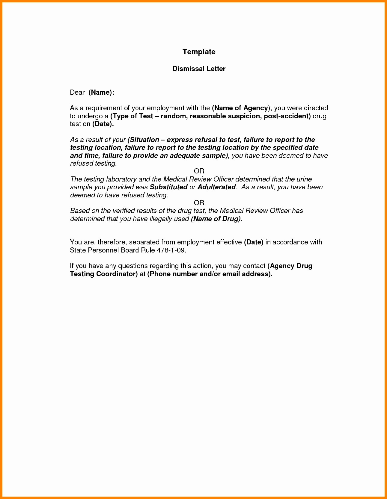 Patient Dismissal Letter for Behavior Template - Dismissal Letter to Patient – Imzadi Fragrances