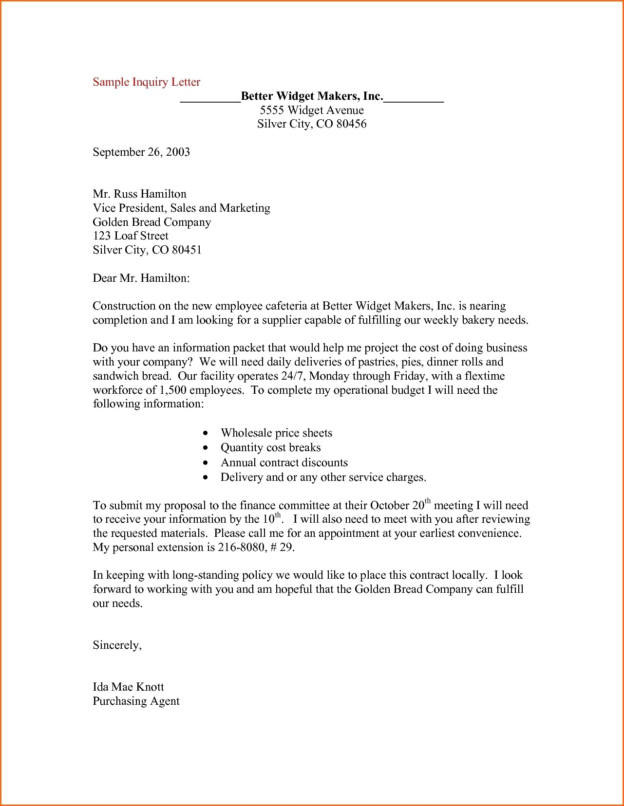 Letter Of Inquiry Template - Domestic Enquiry Letter format New Example Inquiry Letter In