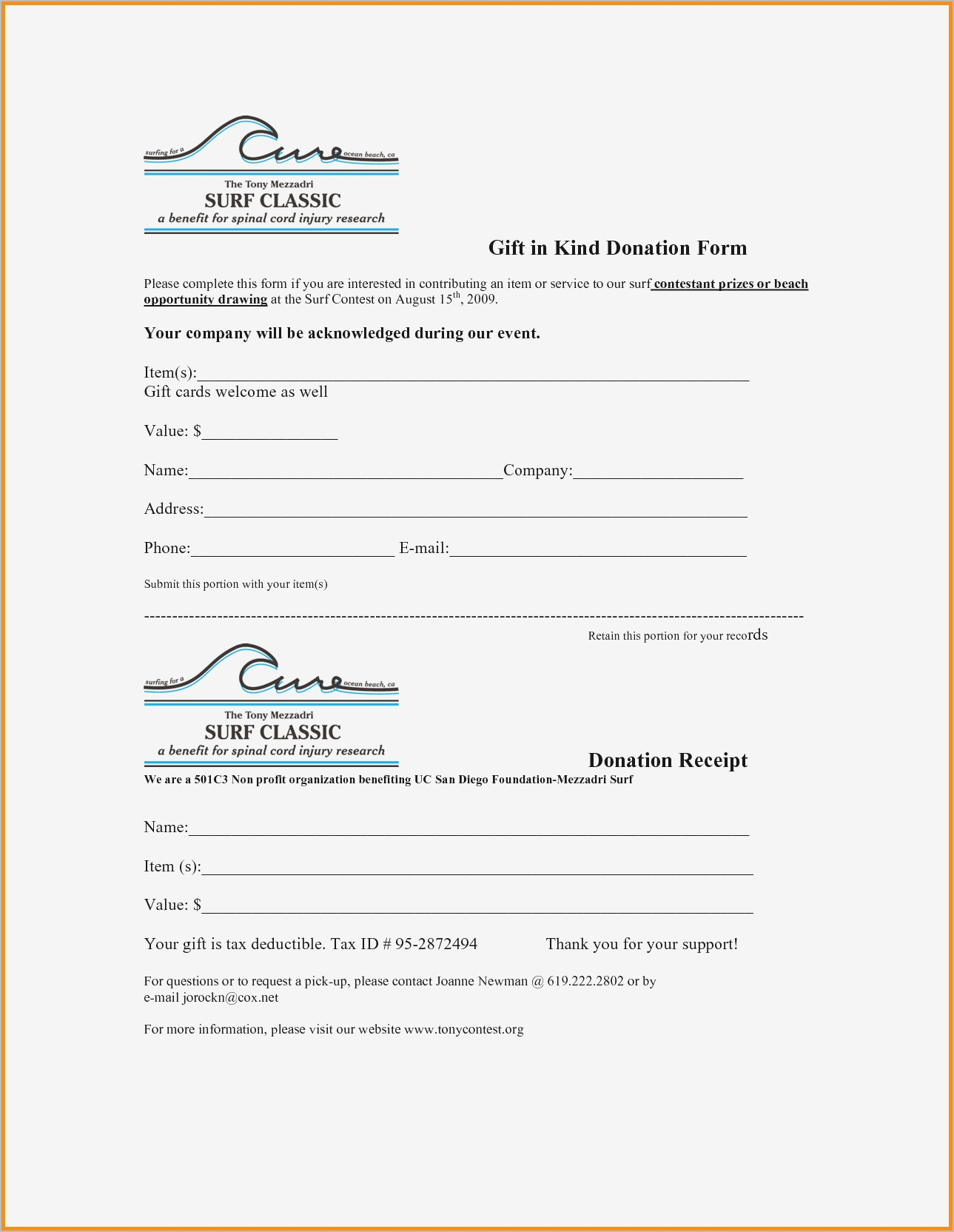 Donation Receipt Letter Template Word - Donation Receipt Letter Samples