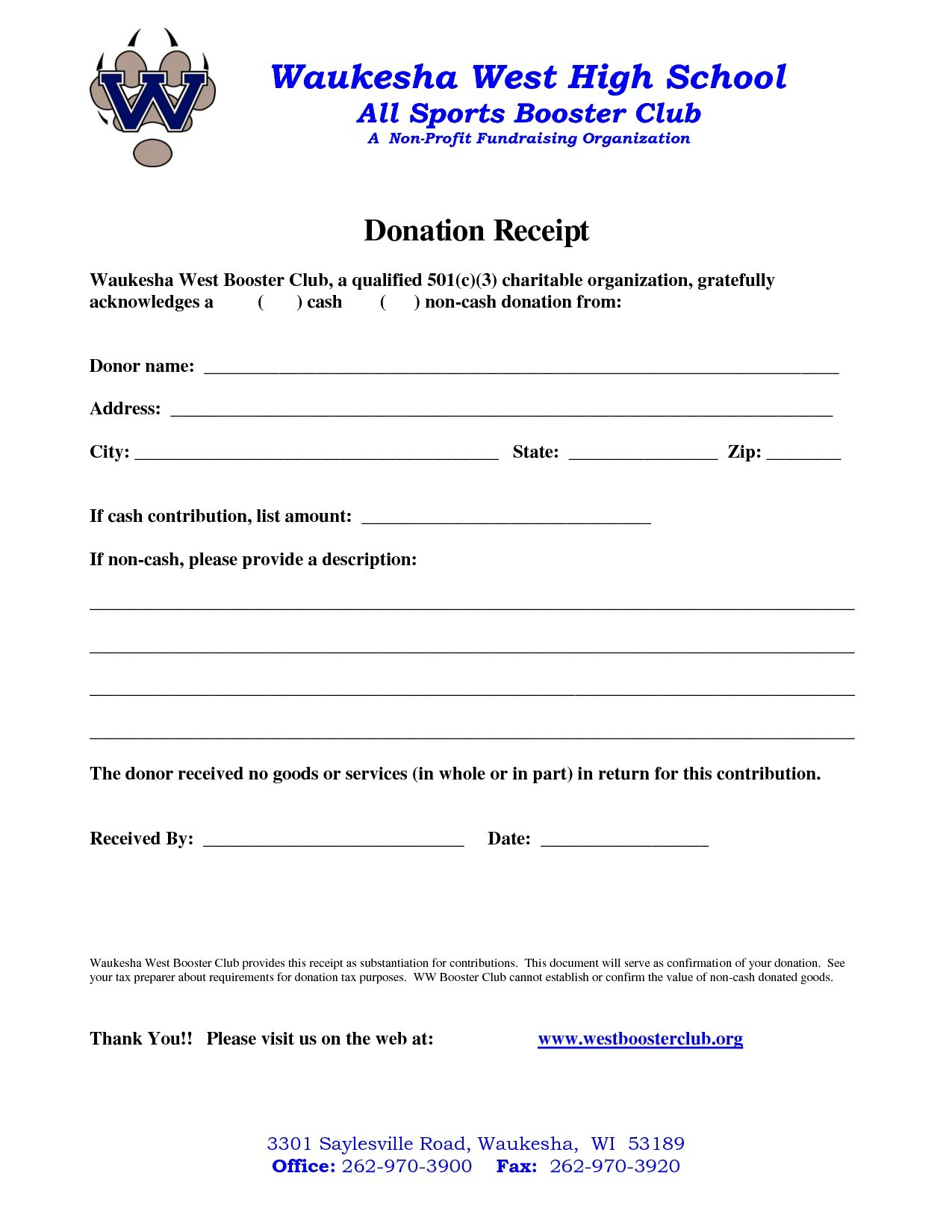 non profit donation receipt letter template Collection-Awesome Non Profit Donation Receipt Template 4-l