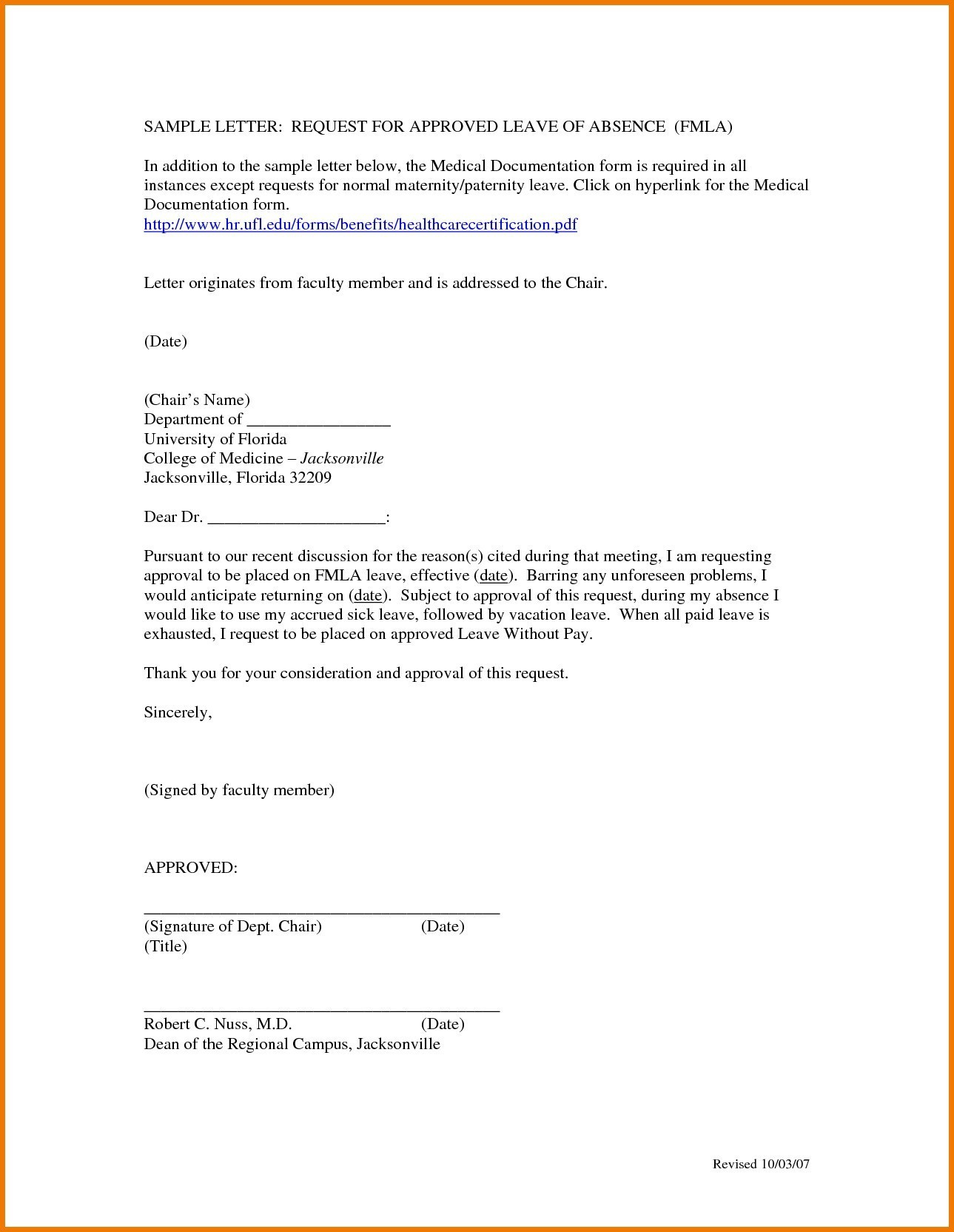 Medical Leave Of Absence Letter Template - Download Sample Medical Certificate for Pregnancy N with Sample