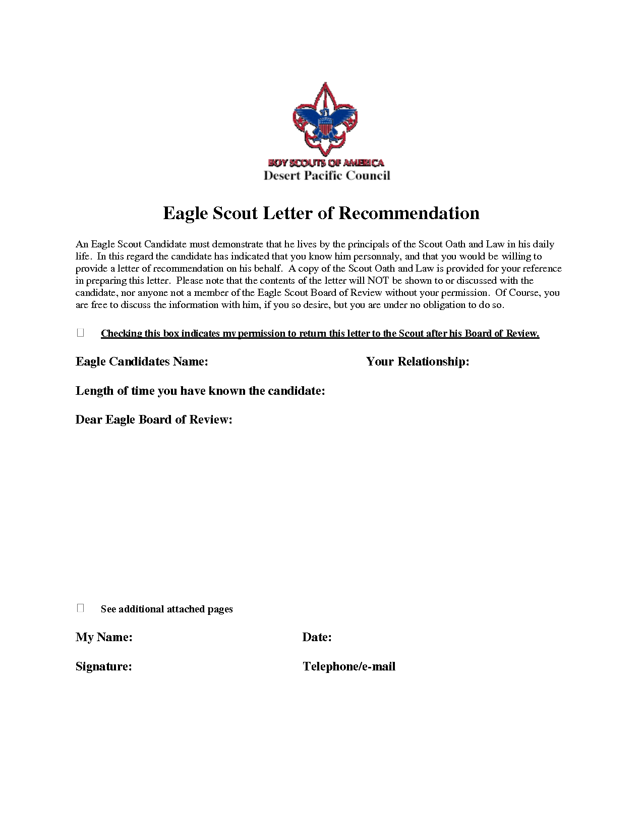 Boy Scout Donation Letter Template - Eagle Scout Re Mendation Letter Sample