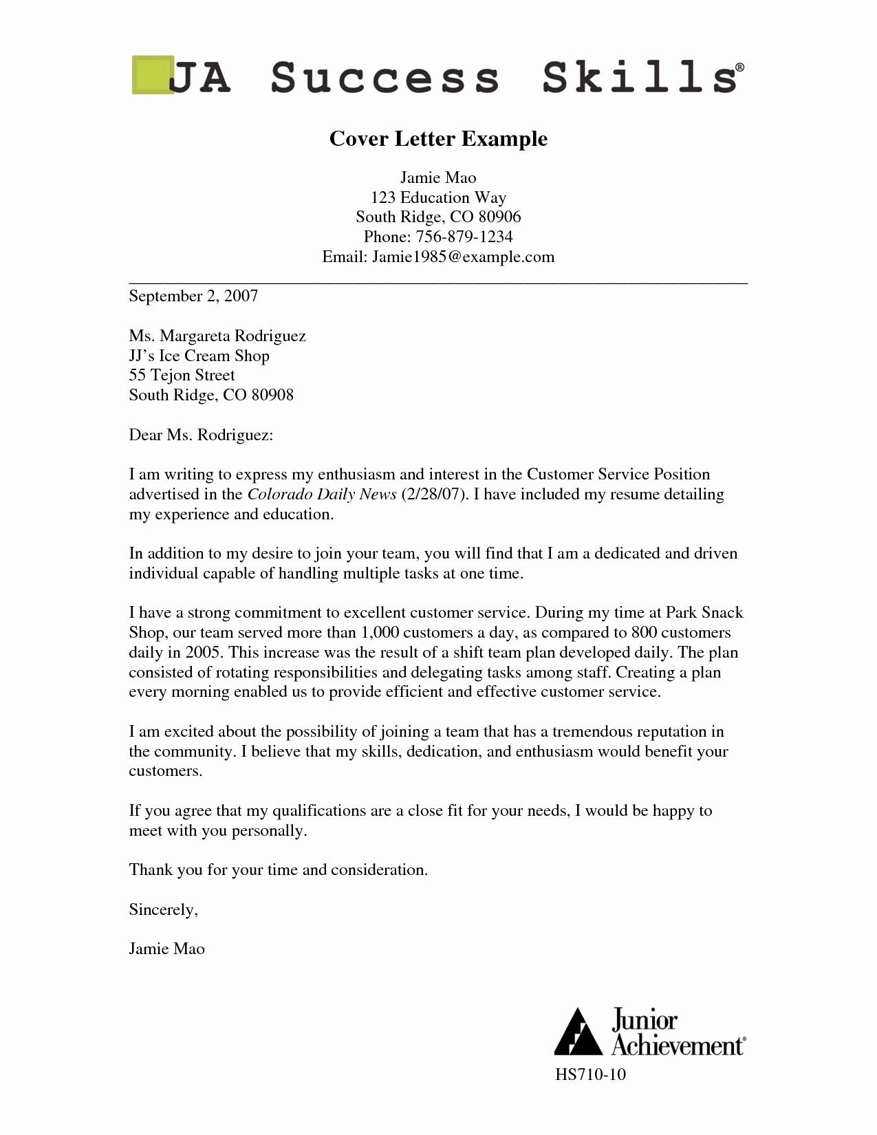 Education Cover Letter Template - Education Cover Letter Sample Best Cover Letter Sample for Resume
