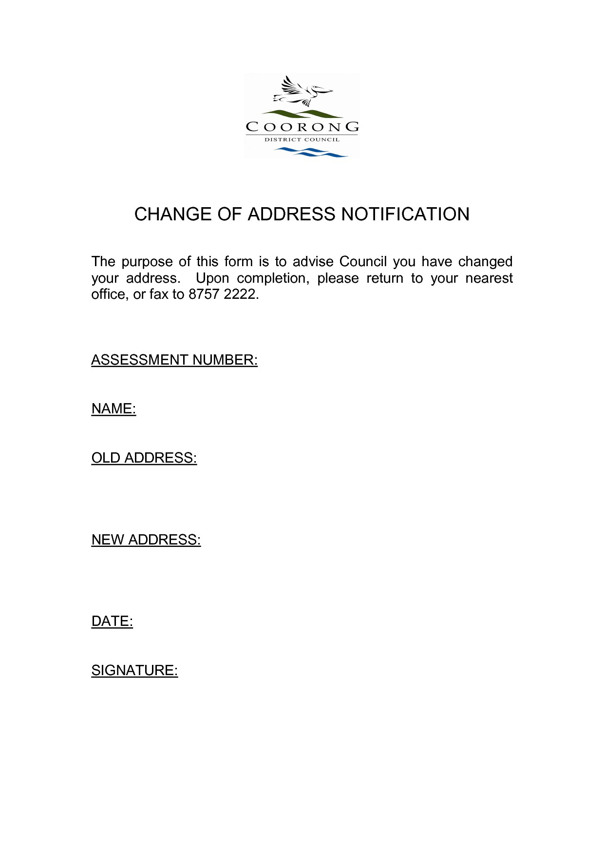 Change of address letter template examples letter template collection change of address letter template elegant change business address letter template flashek Images