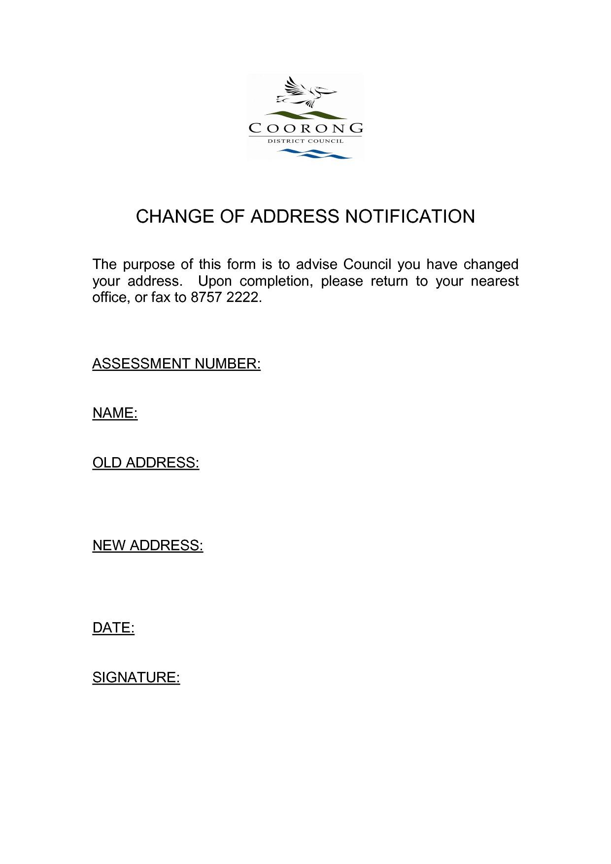 Change Of Address Letter Template - Elegant Change Business Address Letter Template