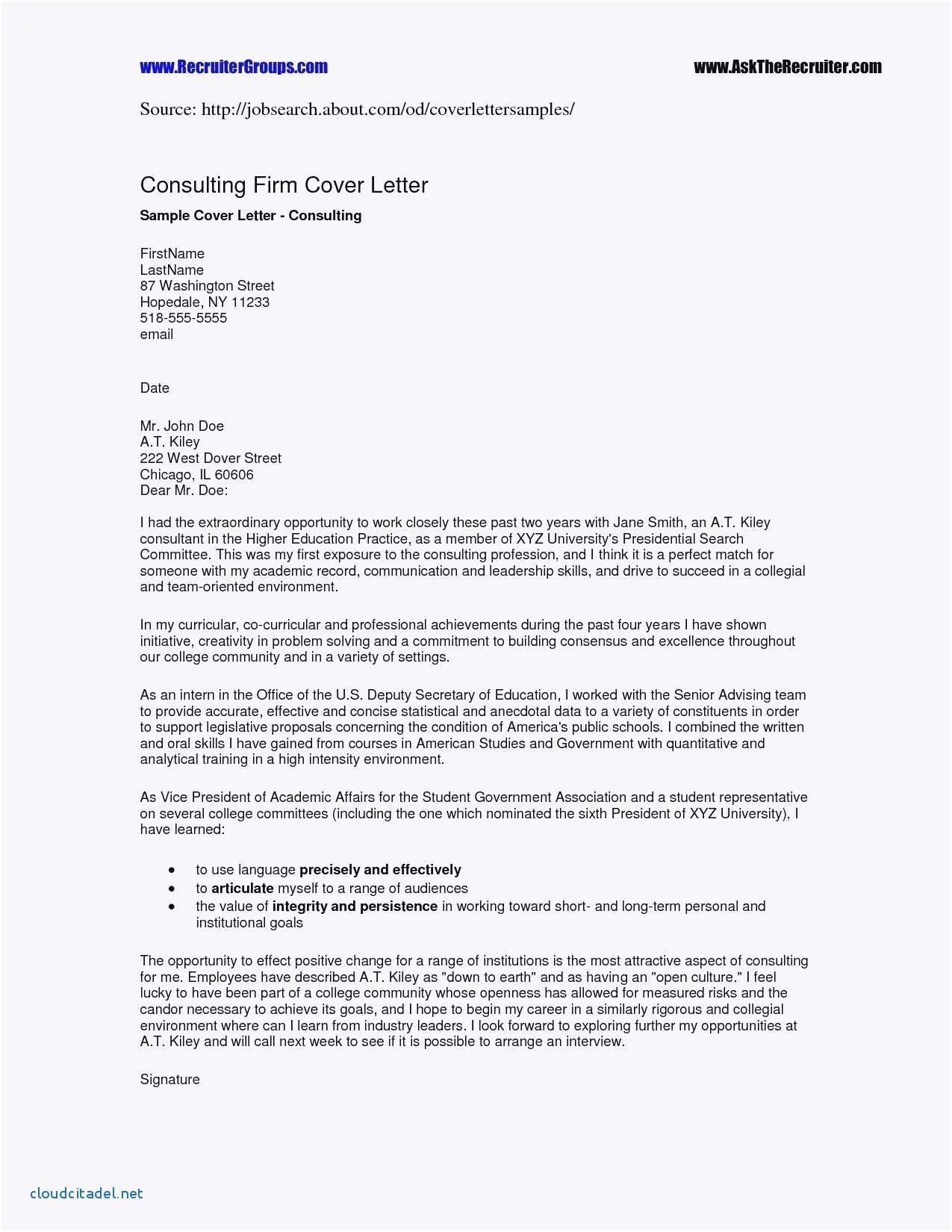 Cover Letter Template Doc - Elegant Letter Sample format Doc