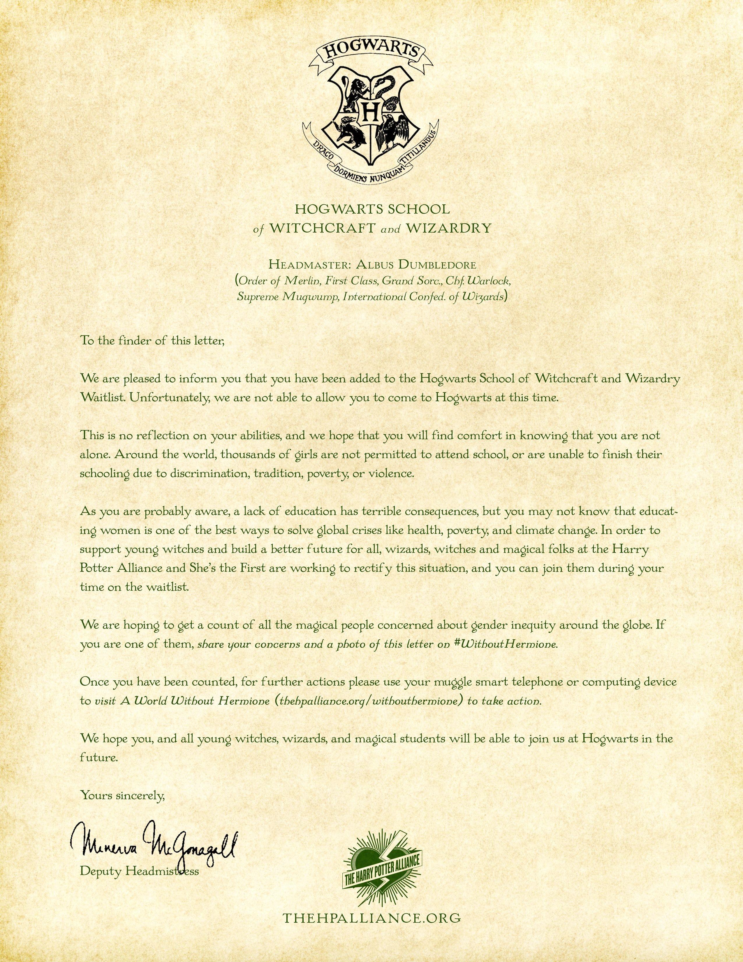 Hogwarts Acceptance Letter Envelope Template Printable ...