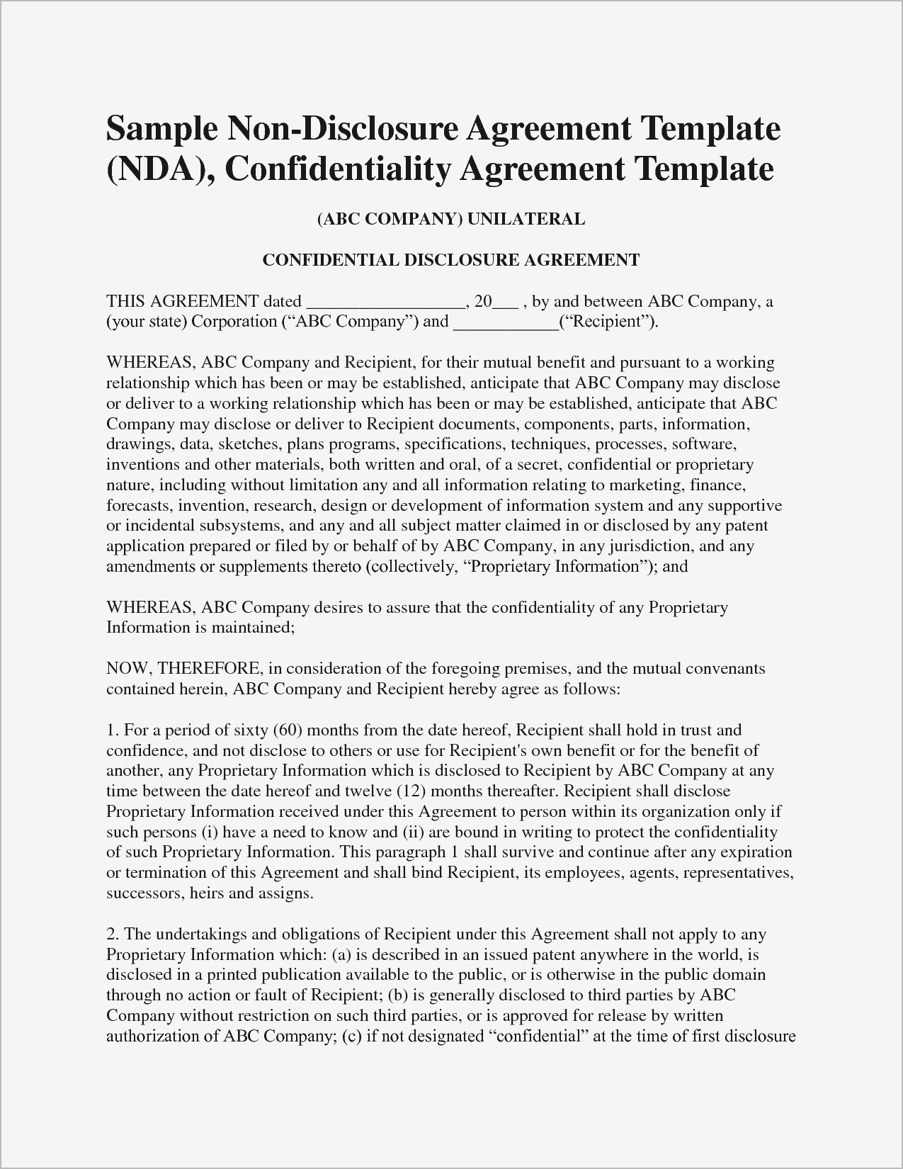 Non Compete Release Letter Template - Employee Non Pete Agreement Template Samples