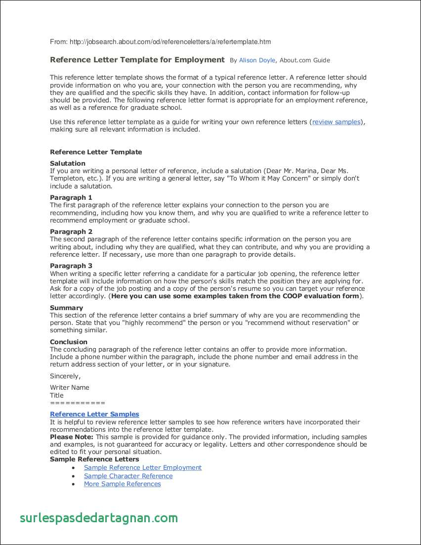 Free Employment Reference Letter Template - Employee Reference Letter Template Happywinner Unique Personal