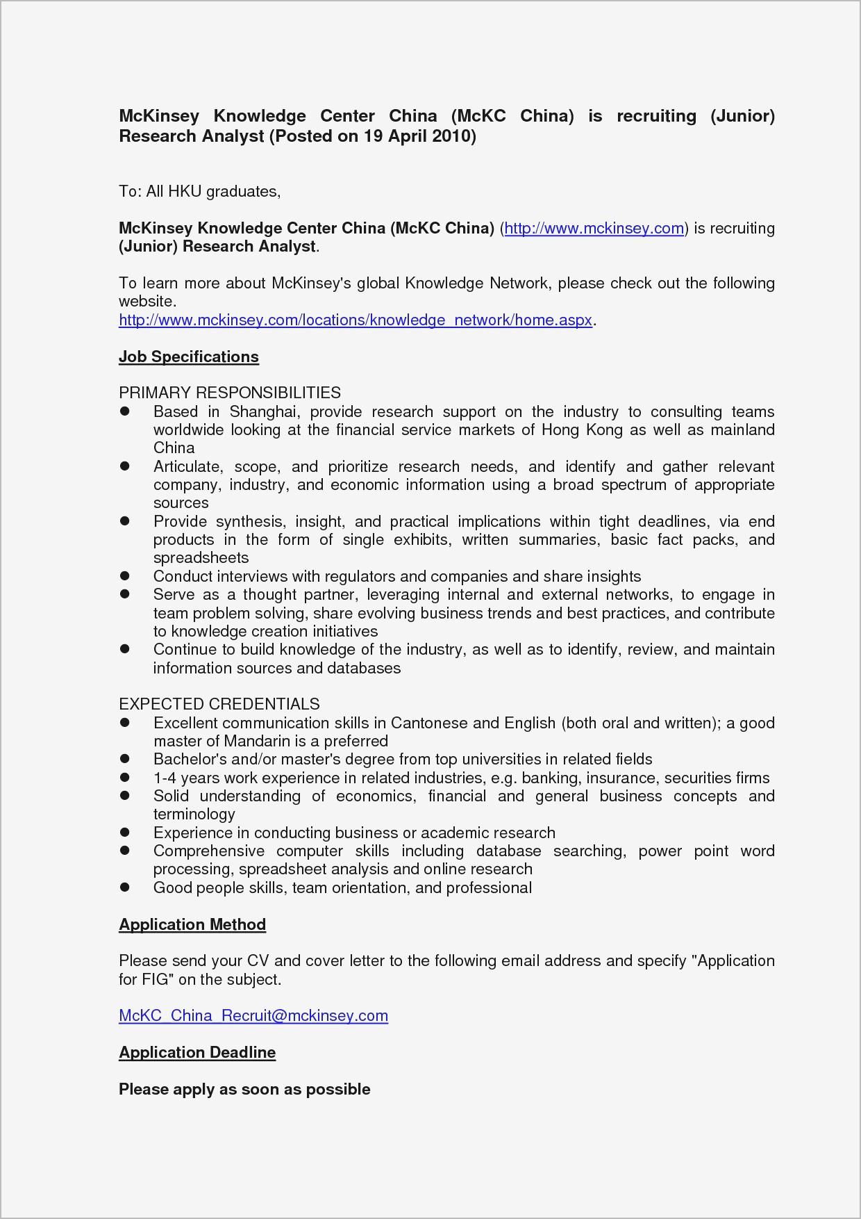 Consultation Letter Template - Employment Cover Letters Ideas