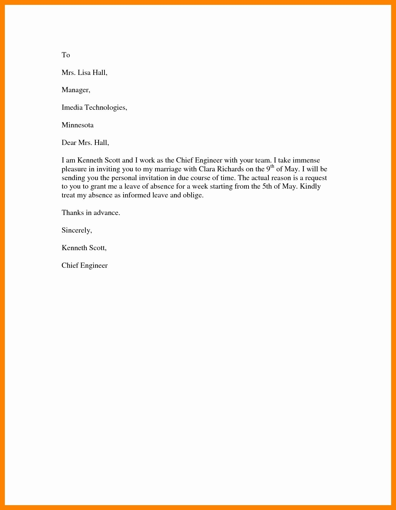 Pregnancy Confirmation Letter Template - English Leave Letter format Fresh Maternity Leave Application format