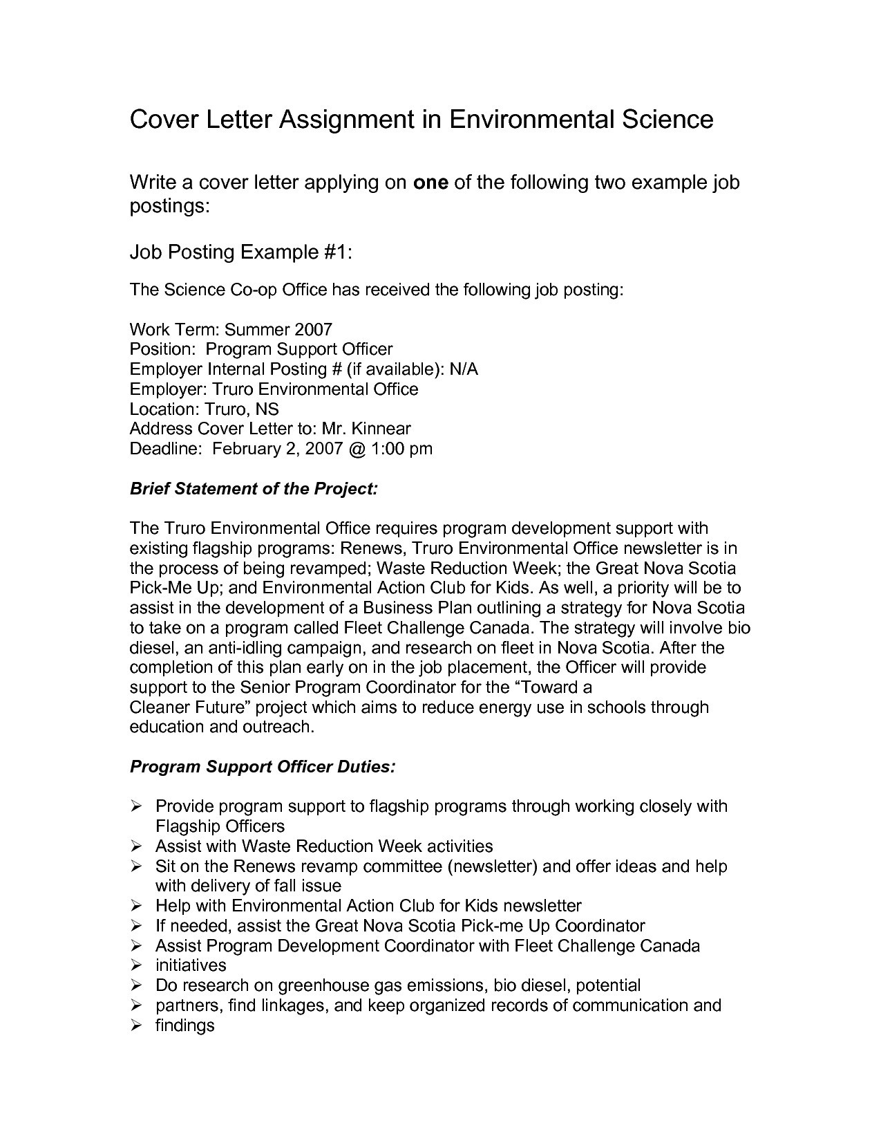 Sample Cover Letter For Internal Position Template