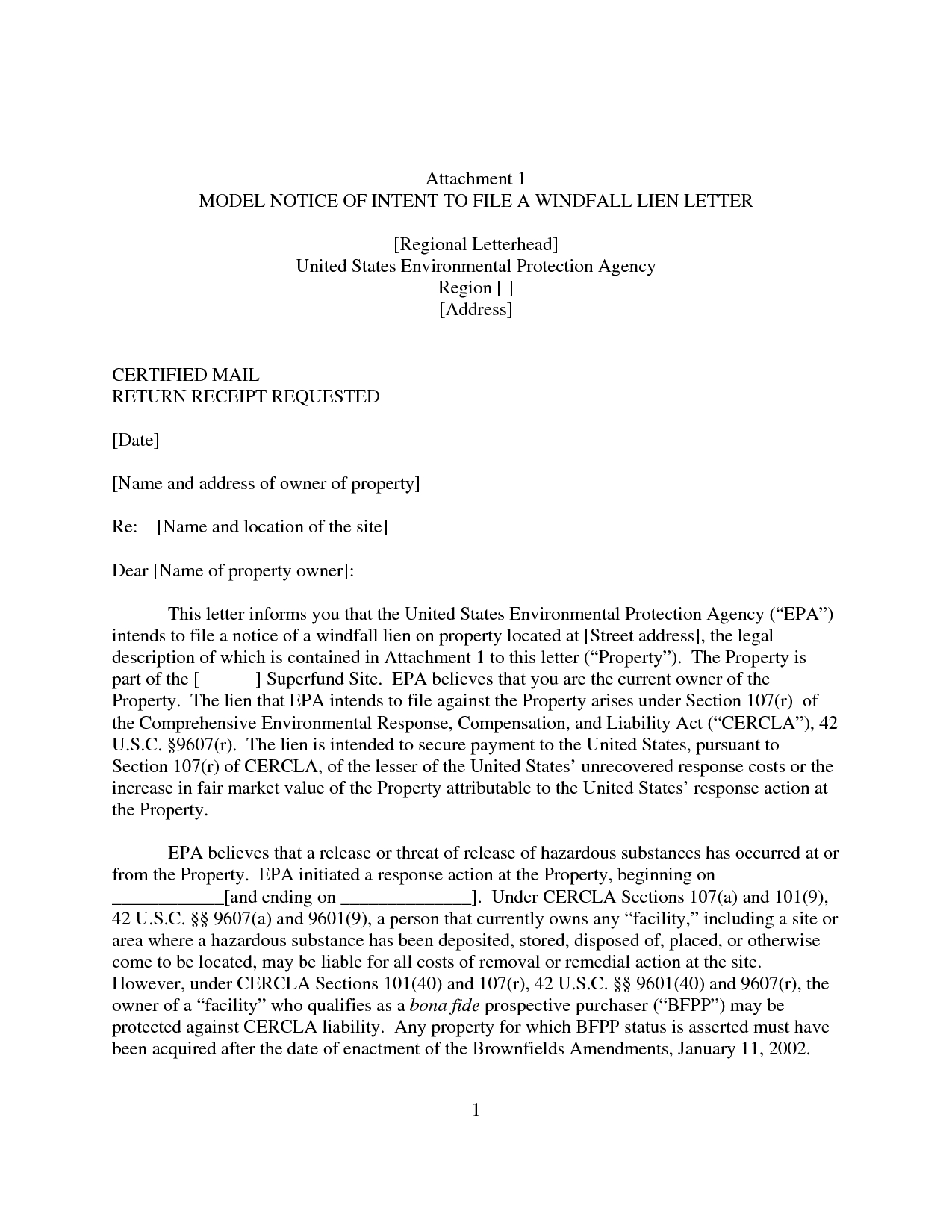 Notice Of Lien Letter Template - Example Intent to Lien Letter Sample Notice Picture Design