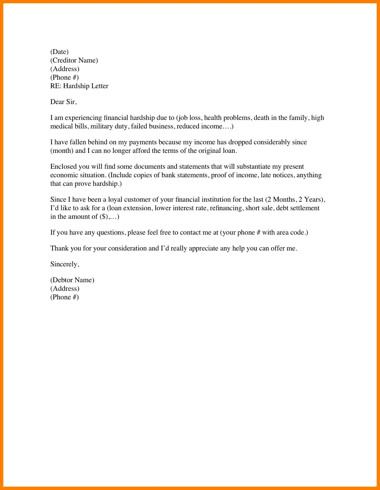 Mortgage Letter Explanation Template Collection