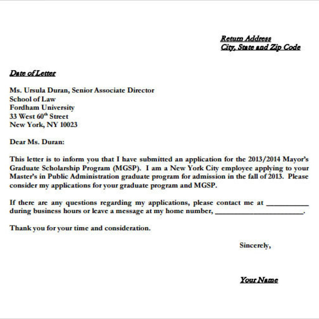 Homeschool Letter Of Intent Template - Example Letter Of Intent for Graduate School – isipingo Secondary