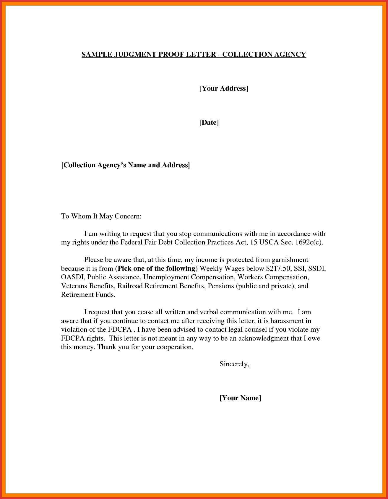 Judgement Proof Letter Template - Example Letter Proof Save Unique Address Proof Letter format