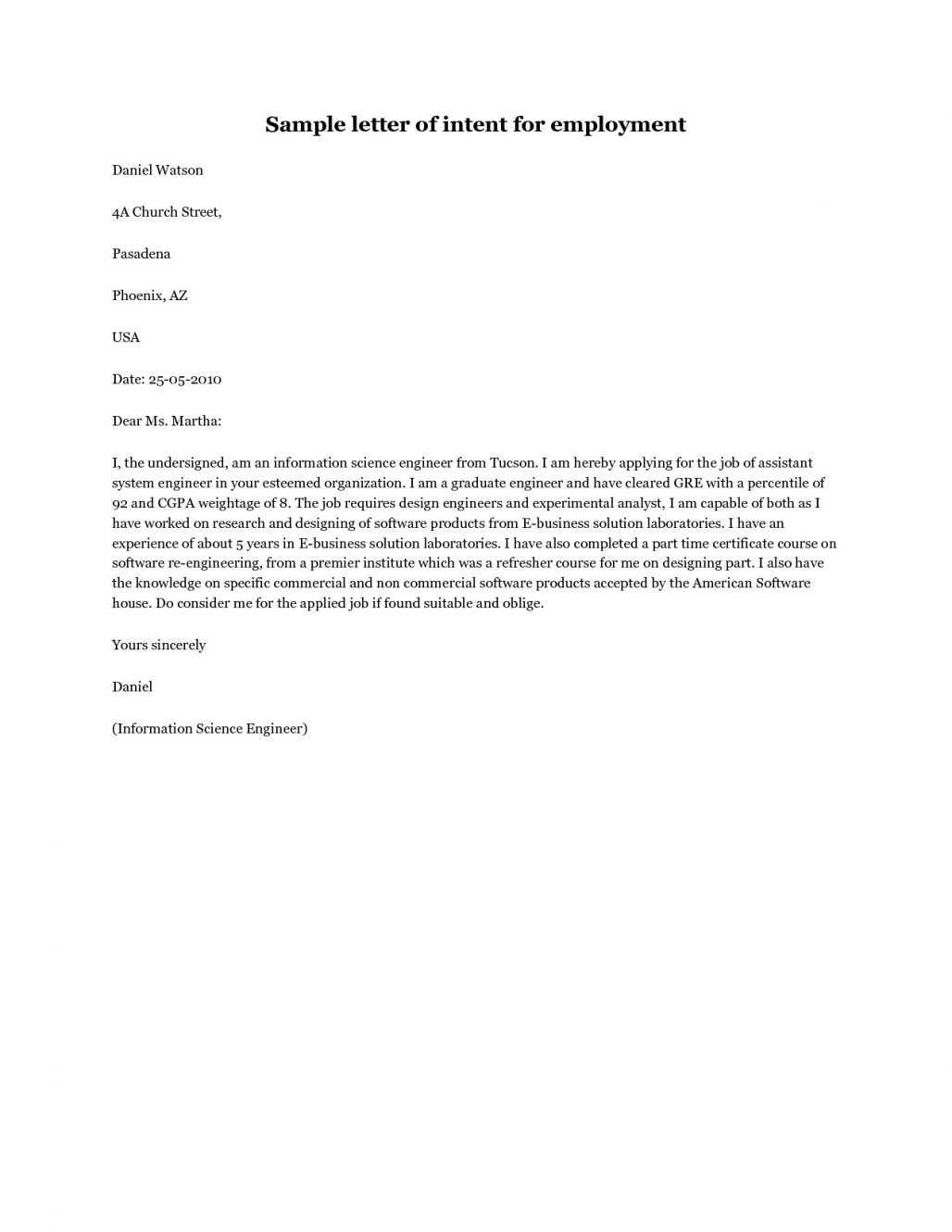 Homeschool Letter Of Intent Template - Example Lettert Filename isipingo Secondary Sample for