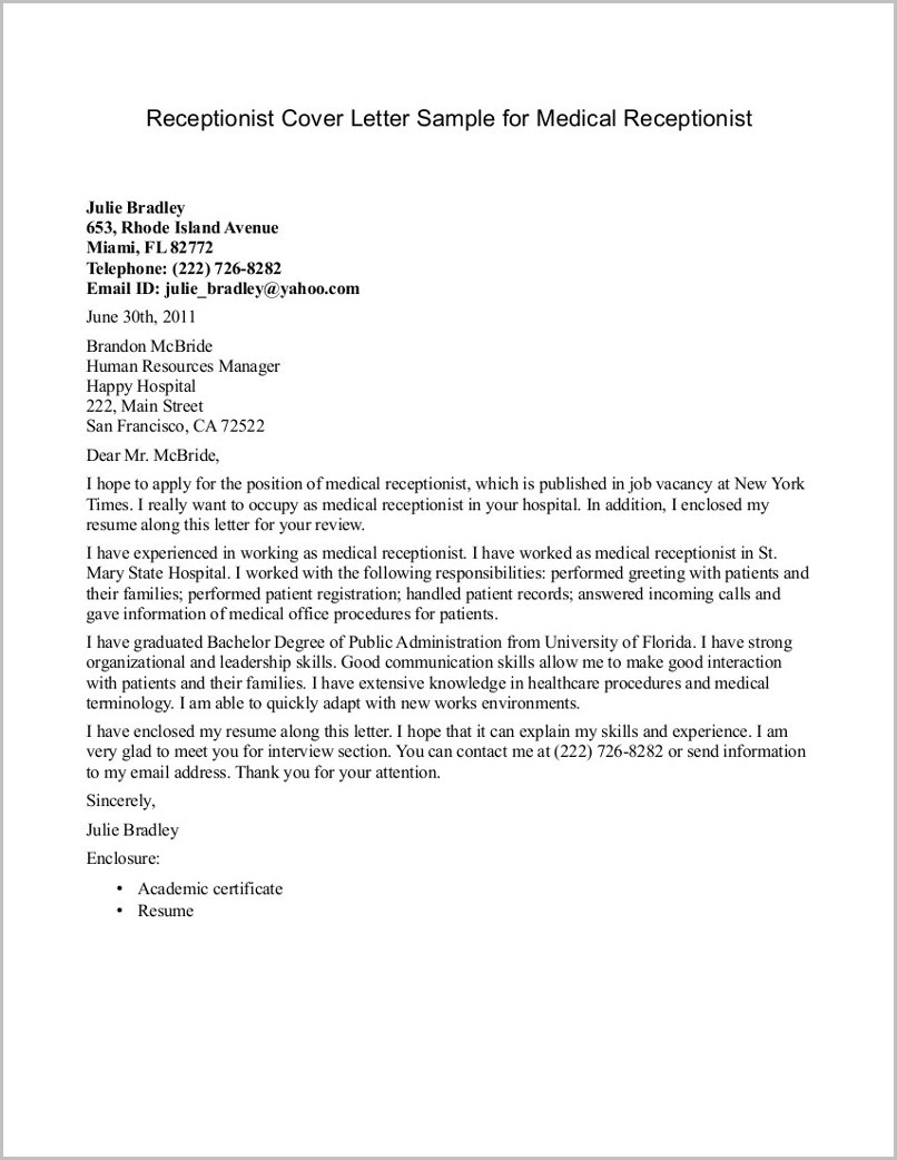 Receptionist Cover Letter Template - Examples Cover Letter for Resume Beautiful 20 Teachers Cover
