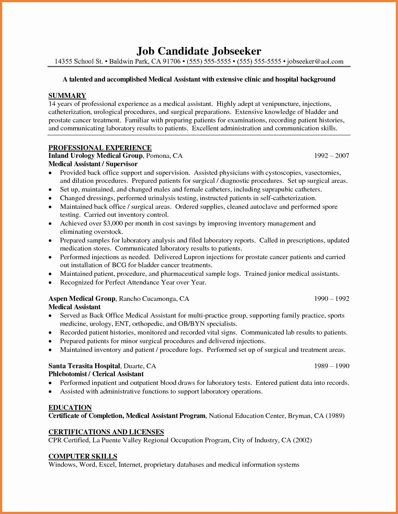 Medical Scribe Cover Letter Template - Examples Cover Letters for Medical assistant Luxury Medical