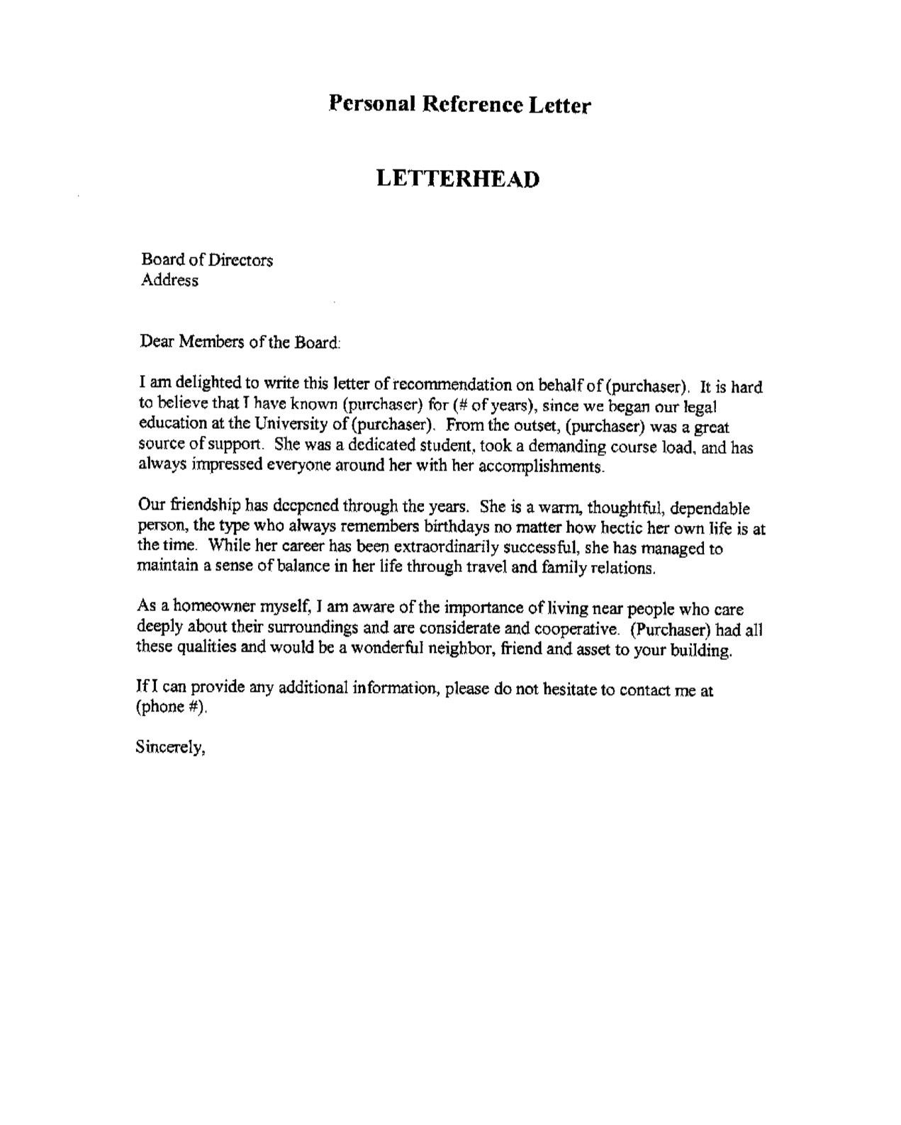 personal reference letter for a friend template examples job reference letters refrence job reference letter