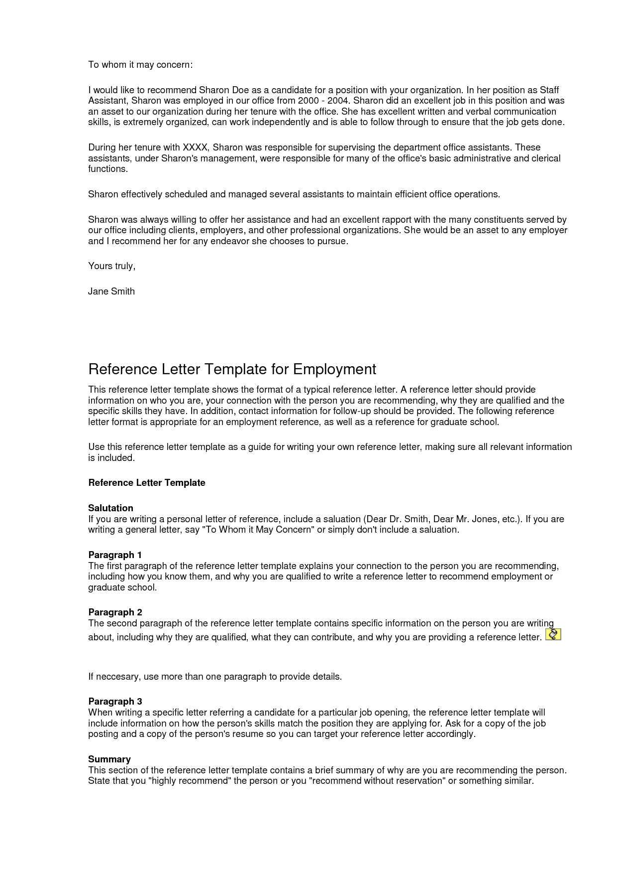 Generic Letter Of Recommendation Template - Examples Letter Re Mendation Template