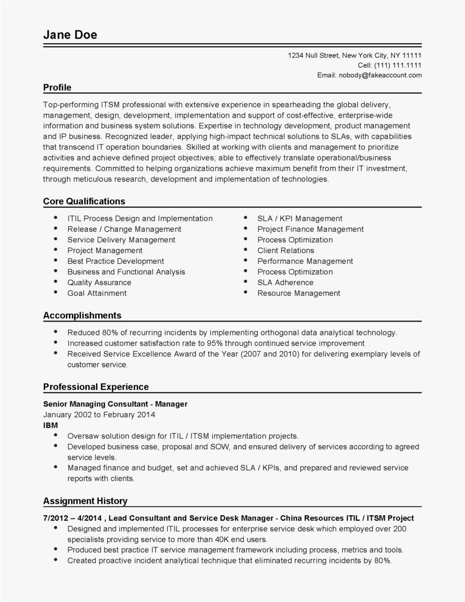 Free Sample Resume Cover Letter Template - Excellent Resume Examples New Hr Resume Examples Unique Od