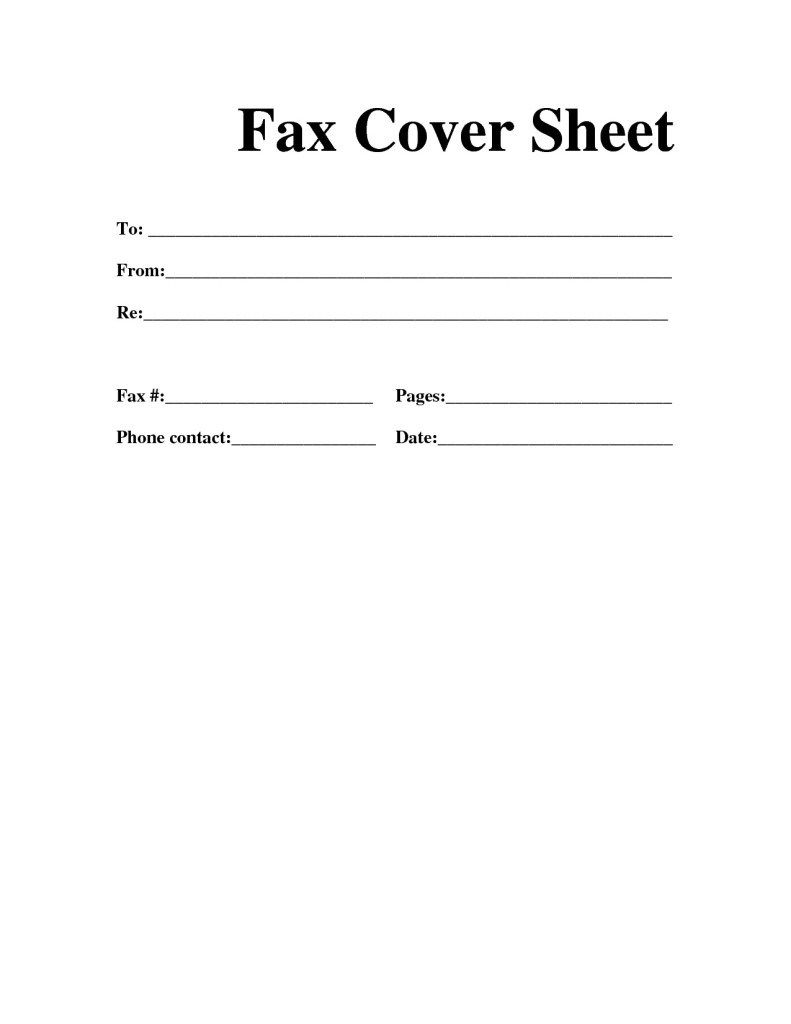 microsoft template fax cover sheet