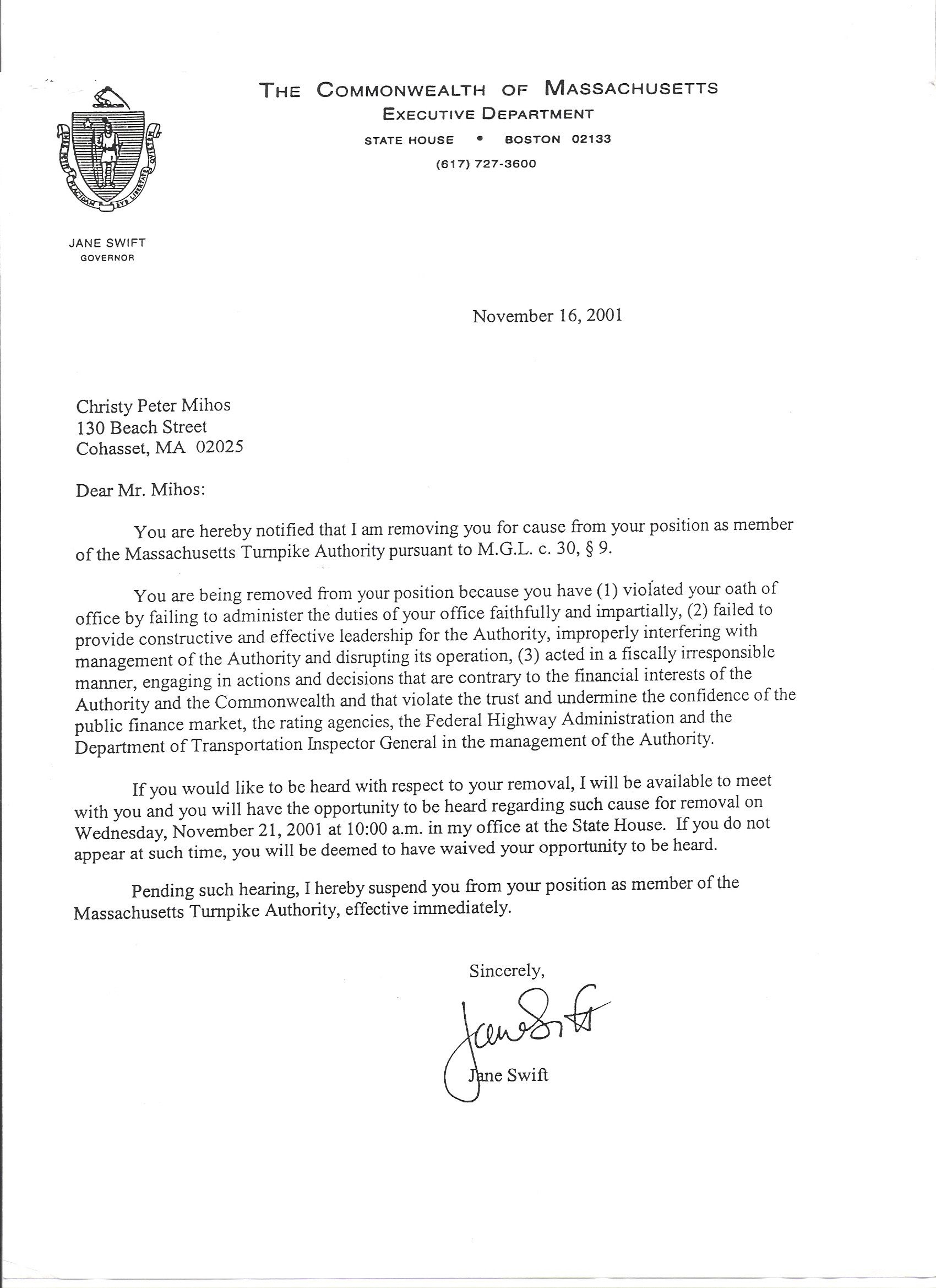 public record removal letter template example-ficial Letter Removal From Jane Swift Rotten To The Core ficial Letter Business Letter Sample 3-b