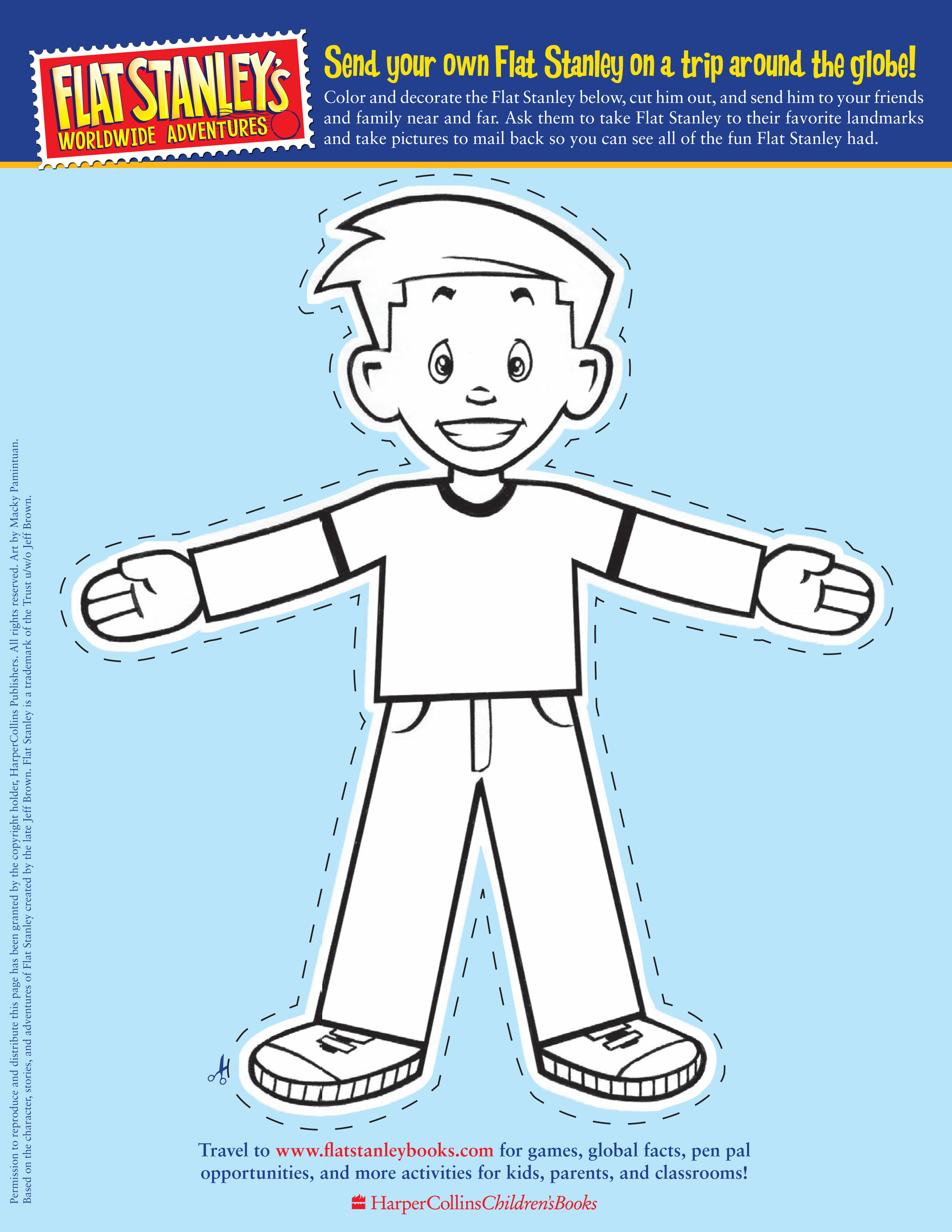 flat stanley letter template Collection-flat stanley printable 5-n