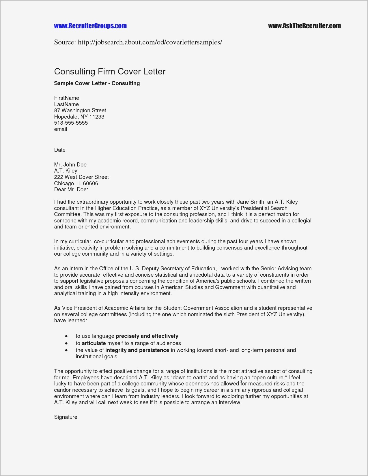 Letter Of Engagement Template Consultant - formal Letter format Muet Fresh 43 Management Consulting Proposal