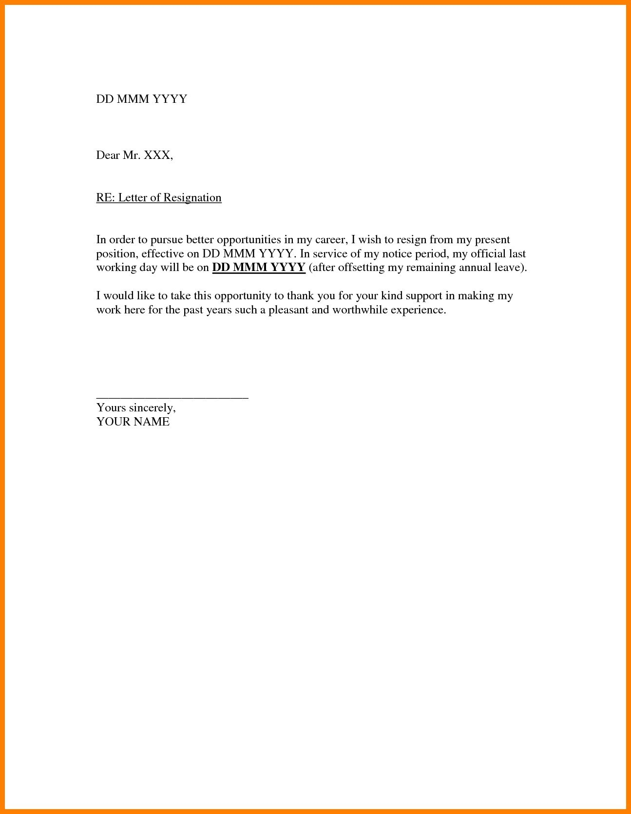 formal resignation letter template formal resignation letter template e month notice copy cards