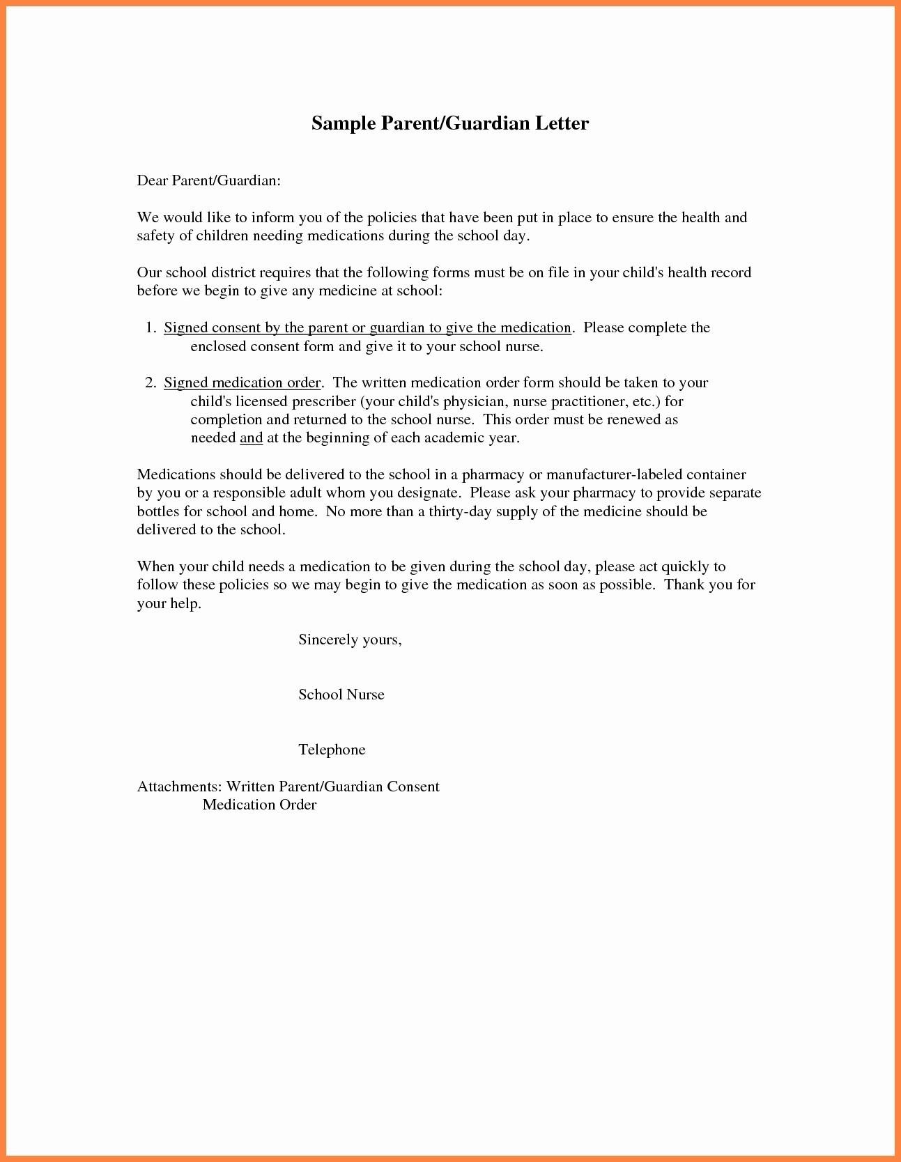Parent Permission Letter Template - format Authorization Letter for School Fresh Authorization Letter