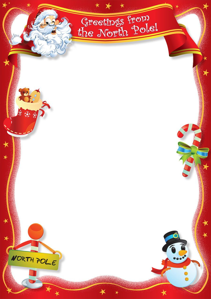 Christmas Letter Border Template Collection | Letter ...