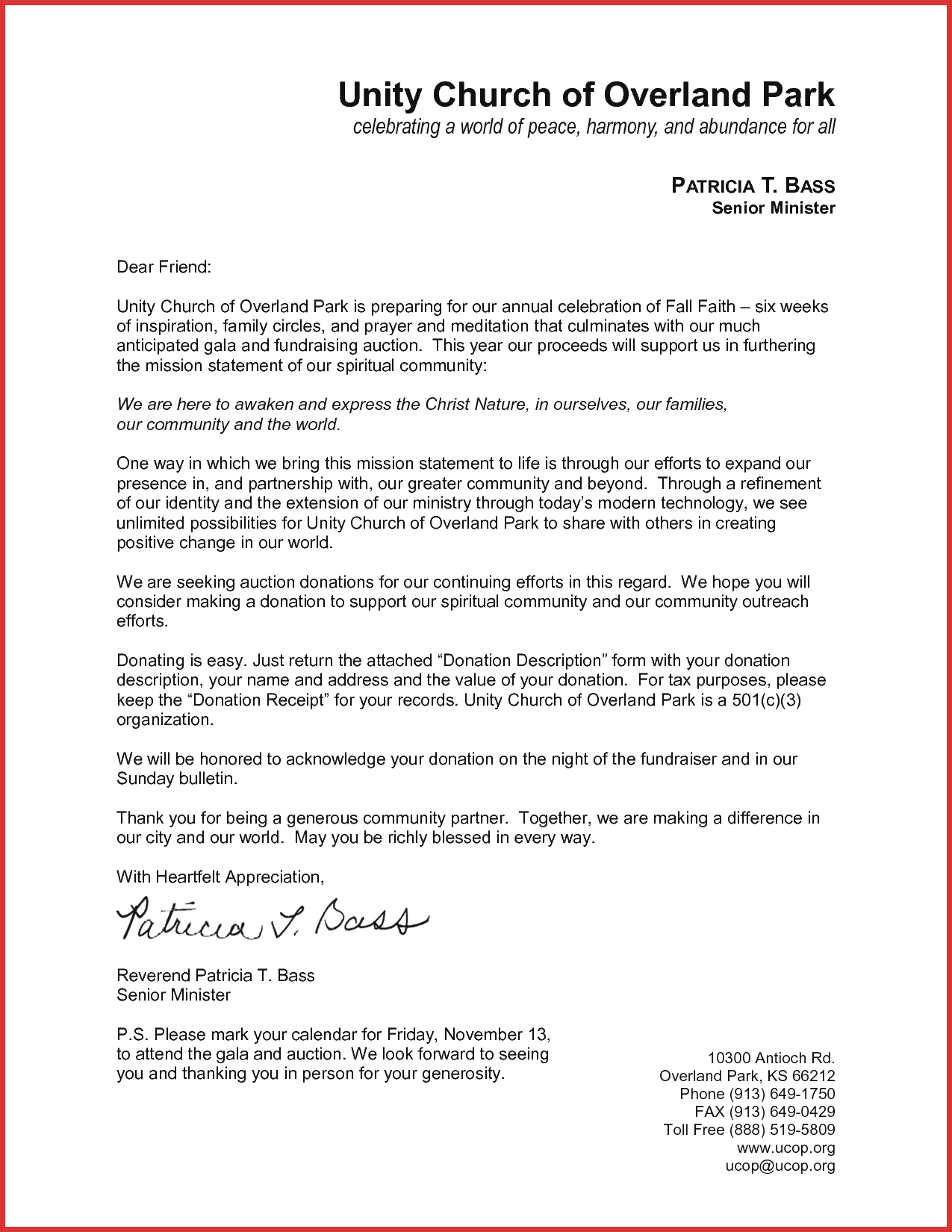 Mission Fundraising Letter Template Collection | Letter ...