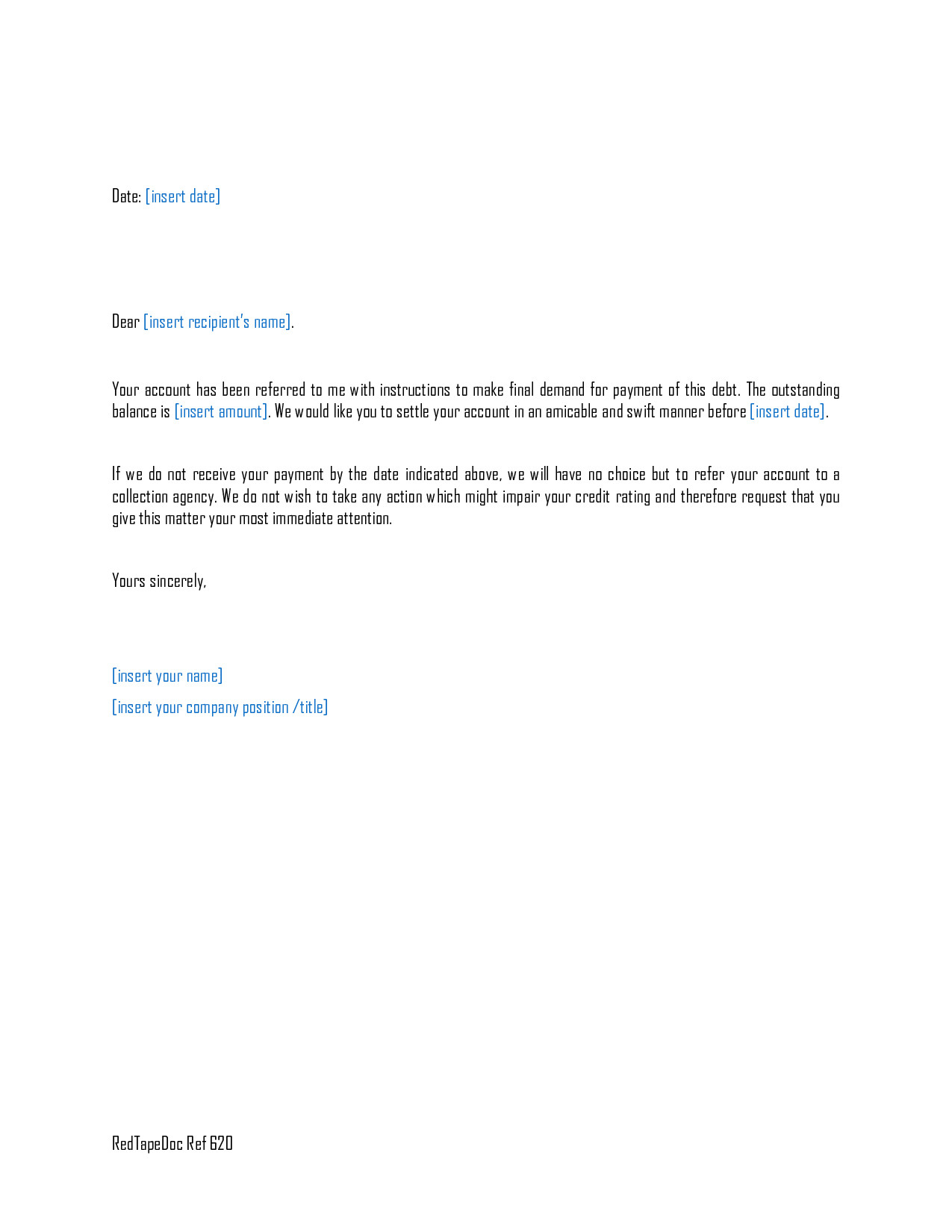 Final Demand for Payment Letter Template - Free Cover Letter Templates Demand Letter for Payment