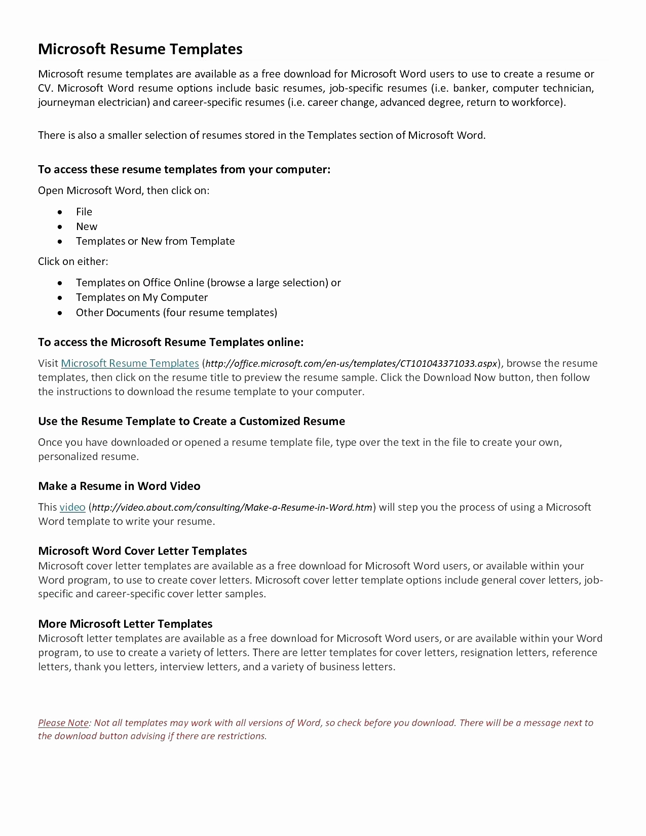 Online Letter Template - Free Cover Letter Templates for Resumes Fresh Resume Template