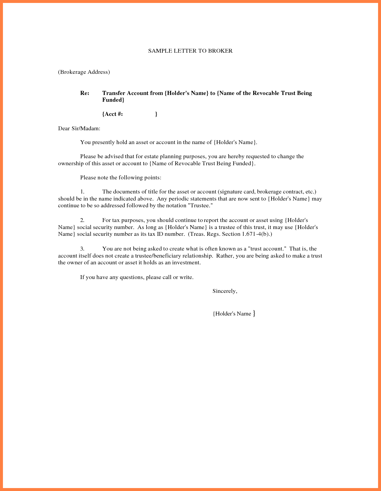 transfer of ownership letter template free cover letter templates transfer letter example