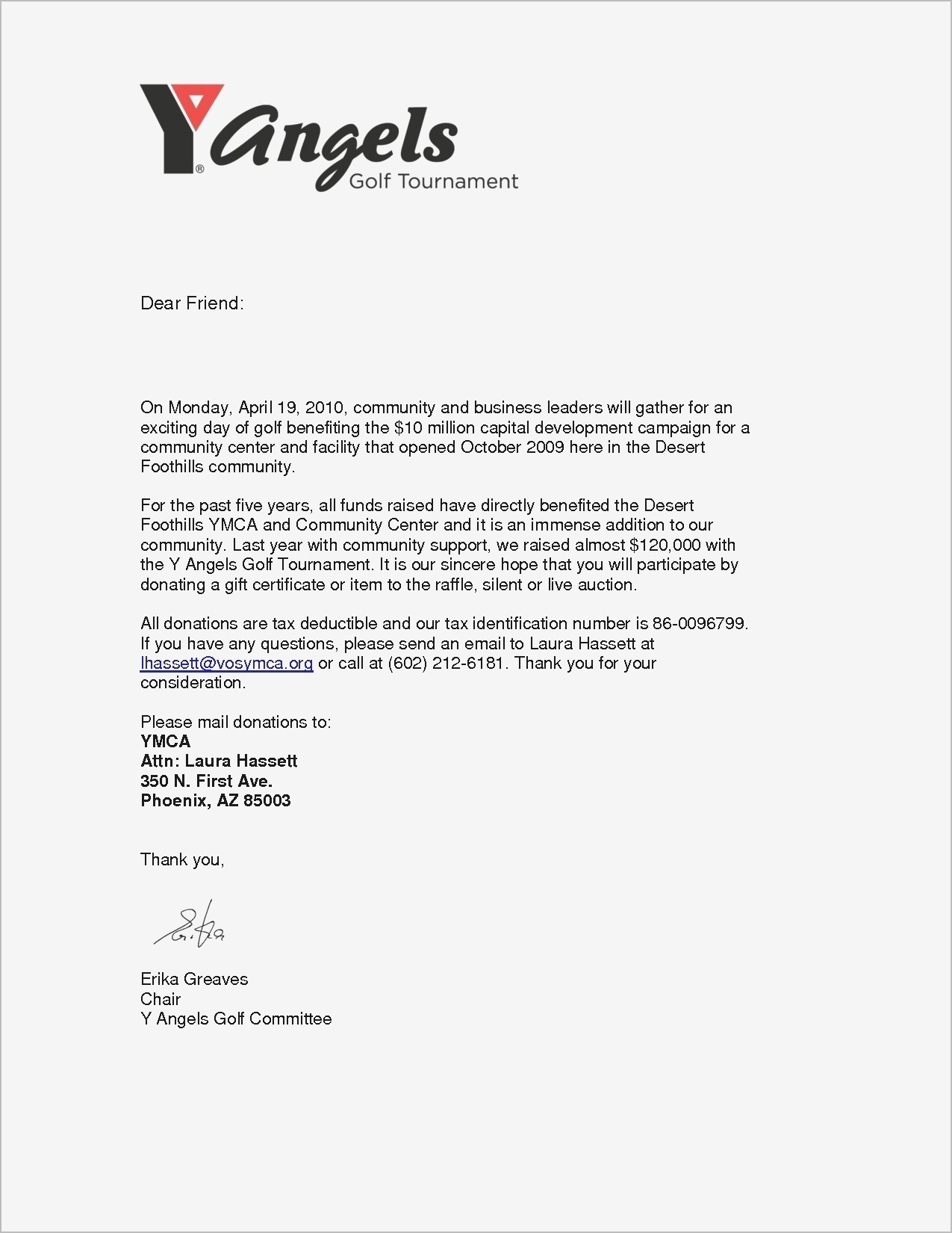 Golf tournament Thank You Letter Template - Free Example Letter Samples Letters Request Donation Fresh How to
