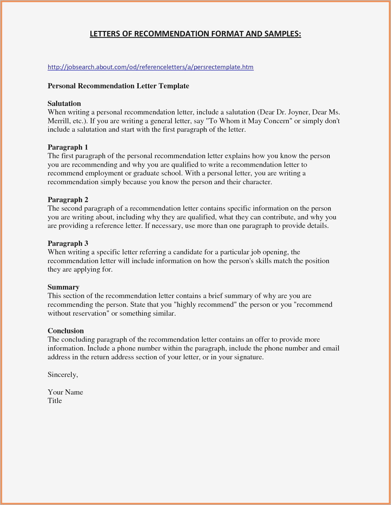 Letter to Seller From Buyer Template - Free Letter Re Mendation Template Pdf format