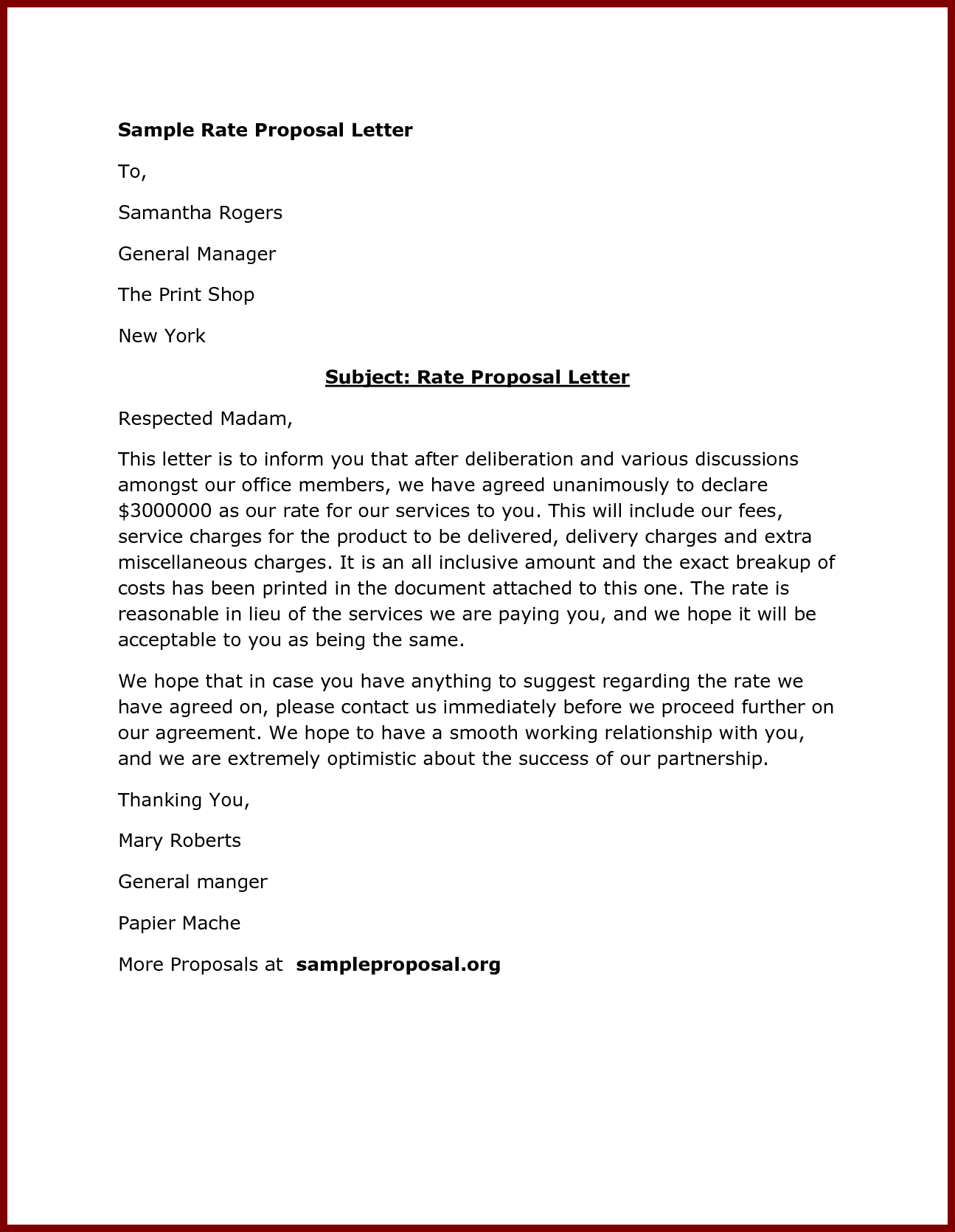 Sealed Bid Offer Letter Template - Free Letter Templates Proposal Template Doc