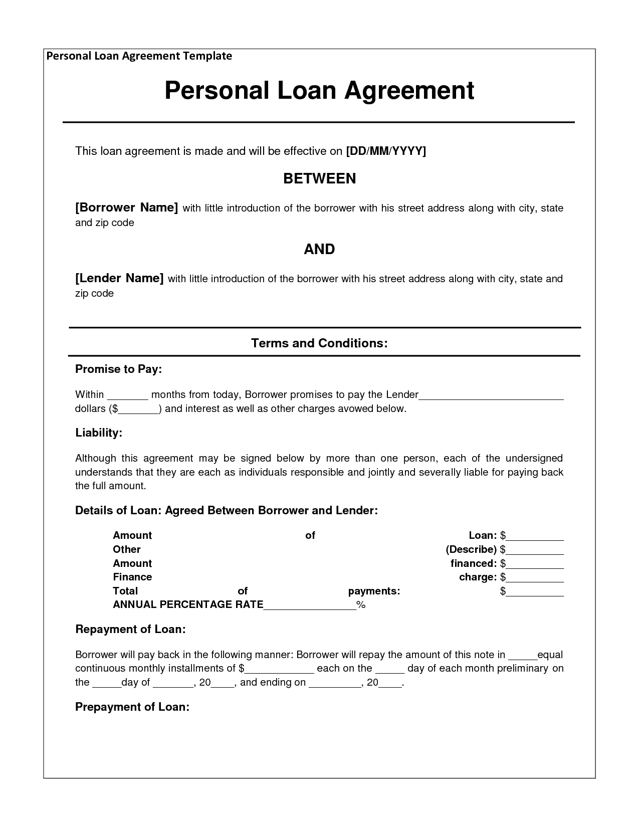 Personal Loan Payoff Letter Template - Free Personal Loan Agreement form Template $1000 Approved In 2
