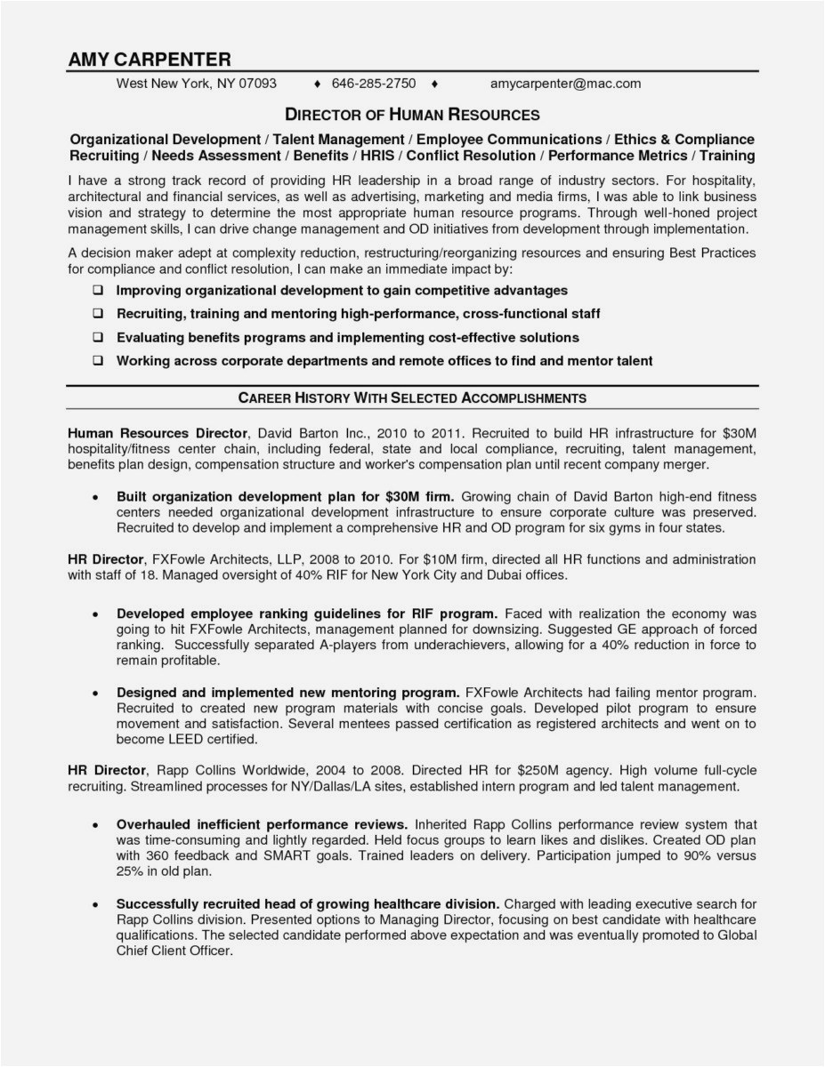 Cover Letter Template for Human Resources - Free Resume Cover Letter Template format Lovely Curriculum Vitae
