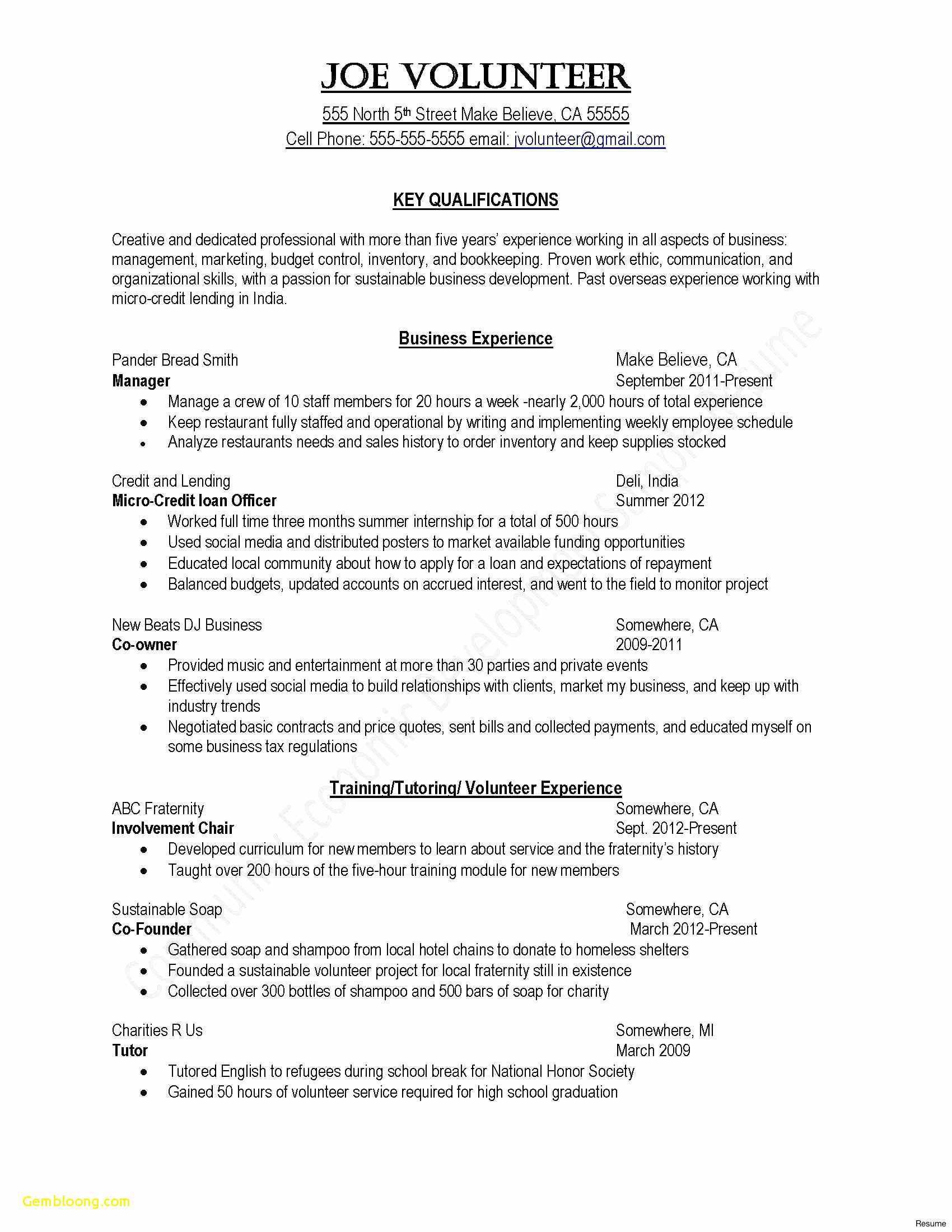 volunteer letter template example-Free Sample Cover Letter for A Resume Awesome Sample Volunteer Resume New format Cover Letter for 17-f