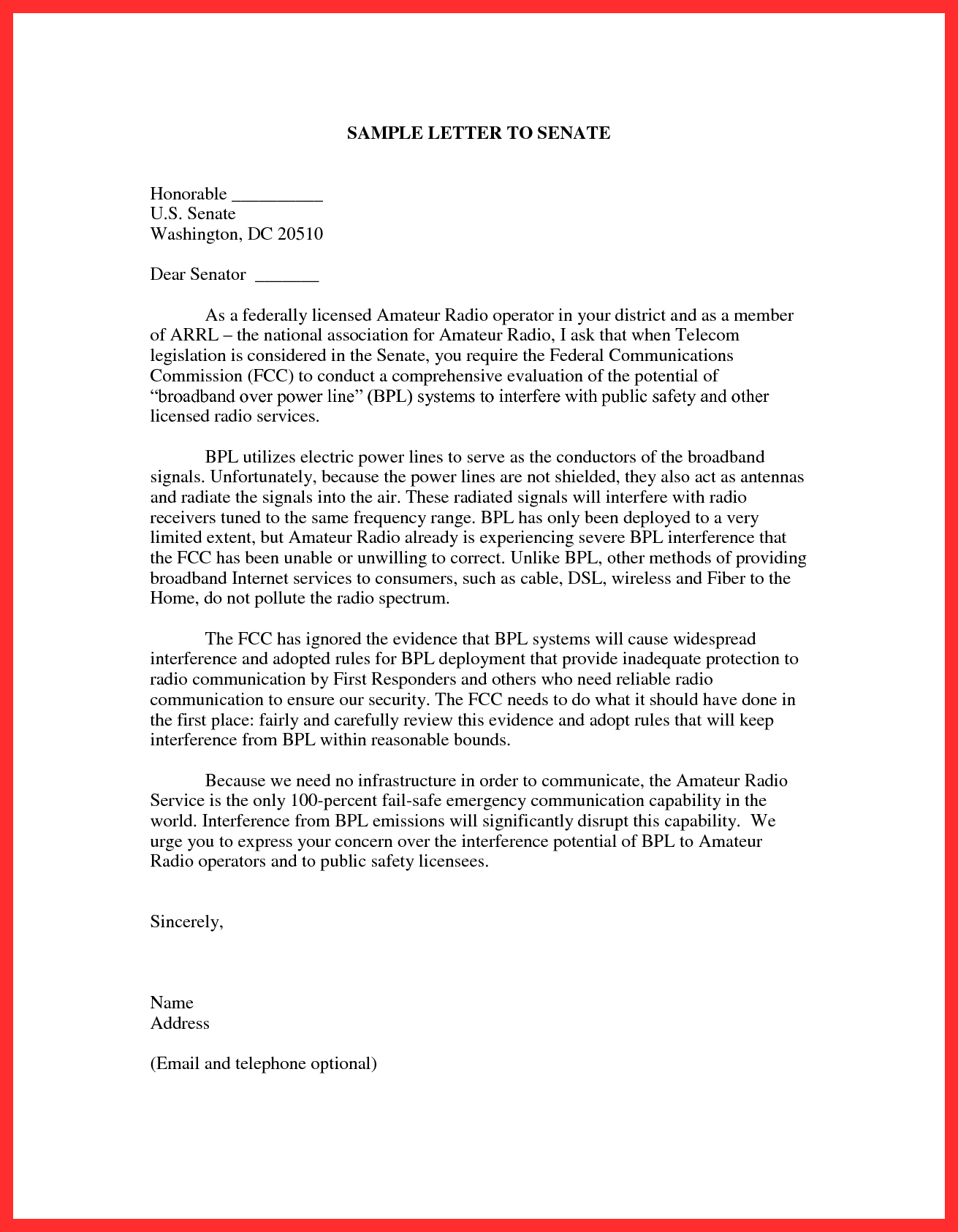 Letter to Congressman Template - Fresh Writing A Letter to Congress Your Template Collection