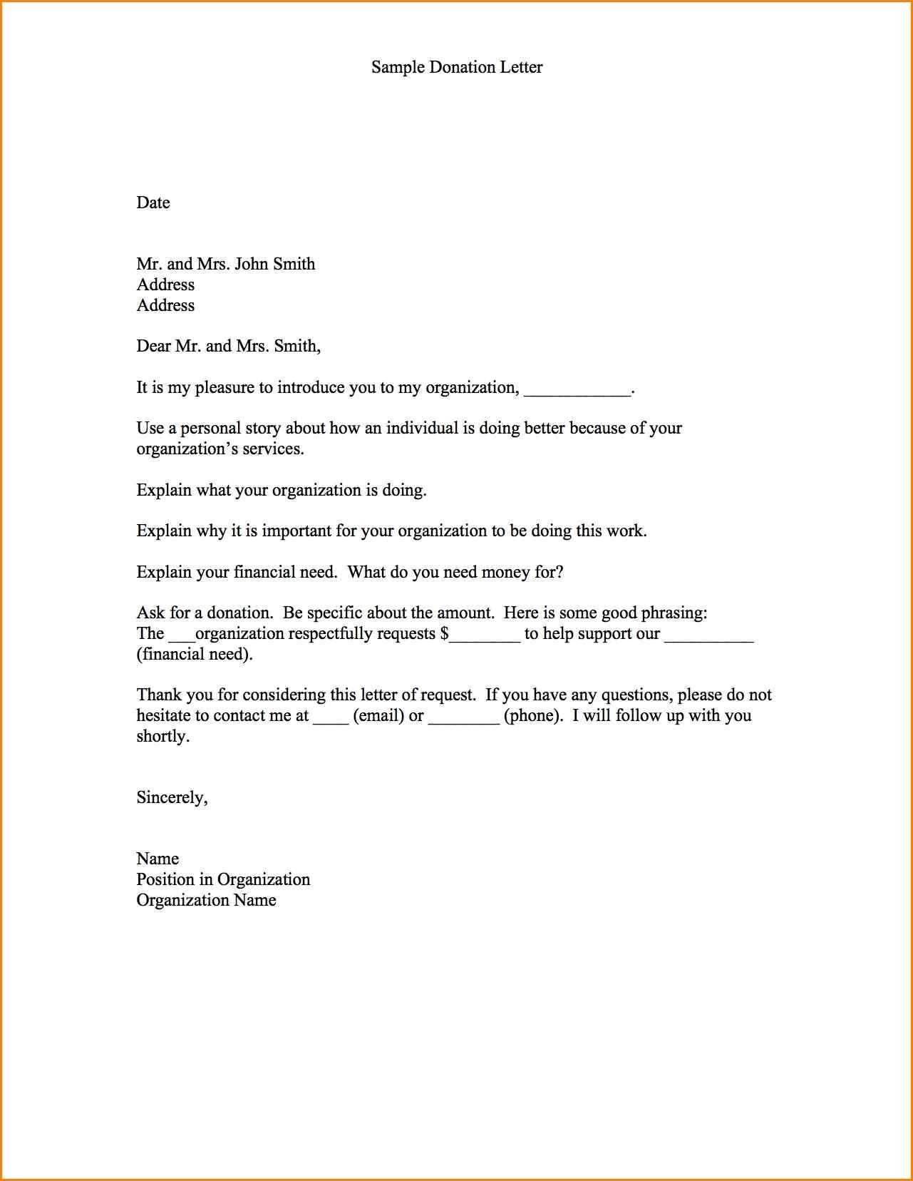 Fundraising Appeal Letter Template - Fundraising Appeal Letter format New 11 Sample Donation Request