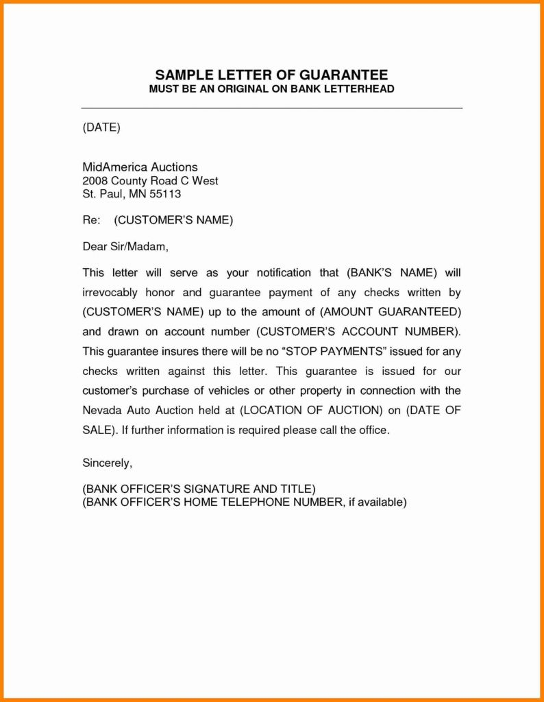 Tenant Guarantor Letter Template - Guarantor Letter for Job Save Guarantee Letter format Business