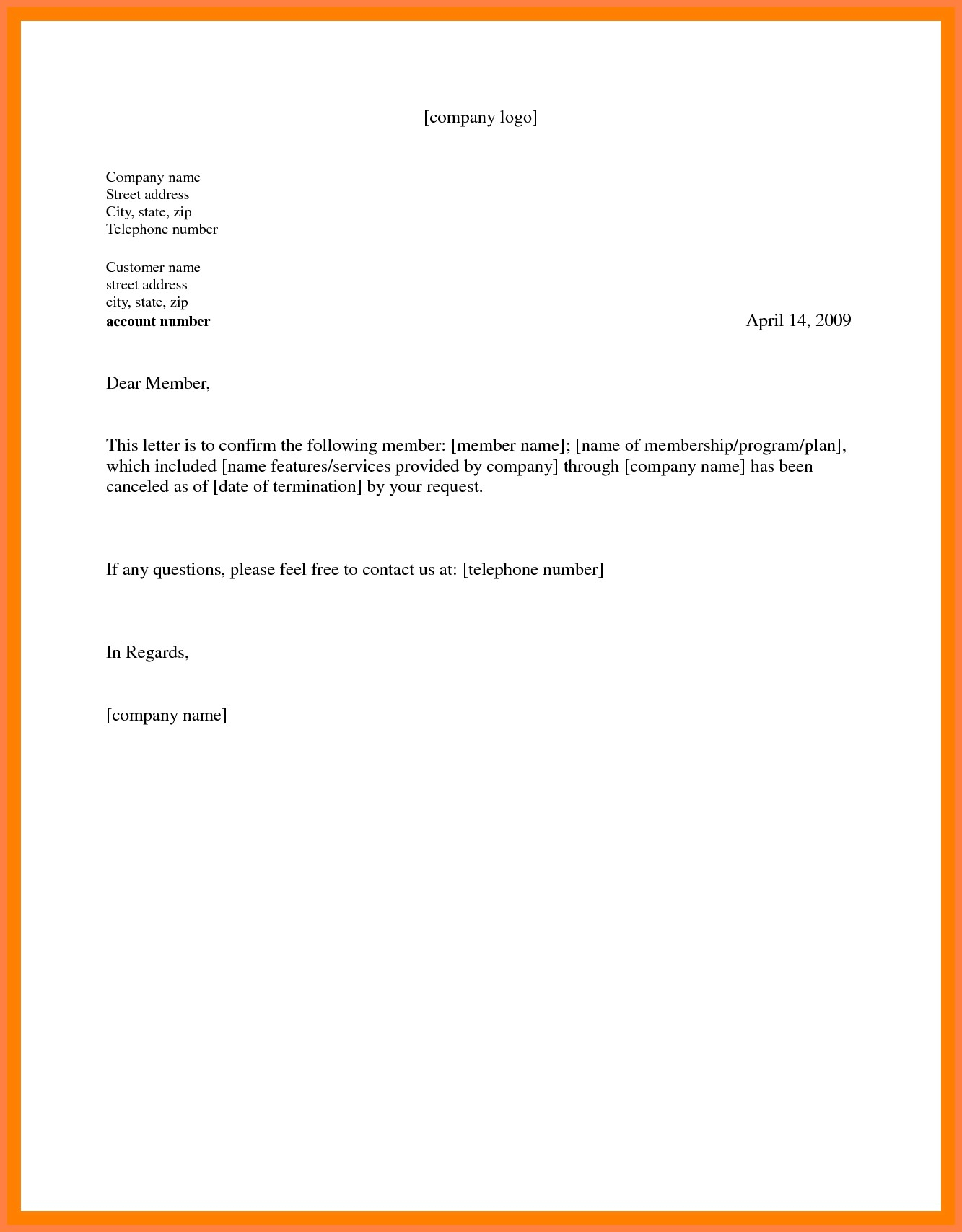 Gym Membership Cancellation Letter Template Free - Gym Membership Cancellation Letter Sample Best 9 Cancel Gym