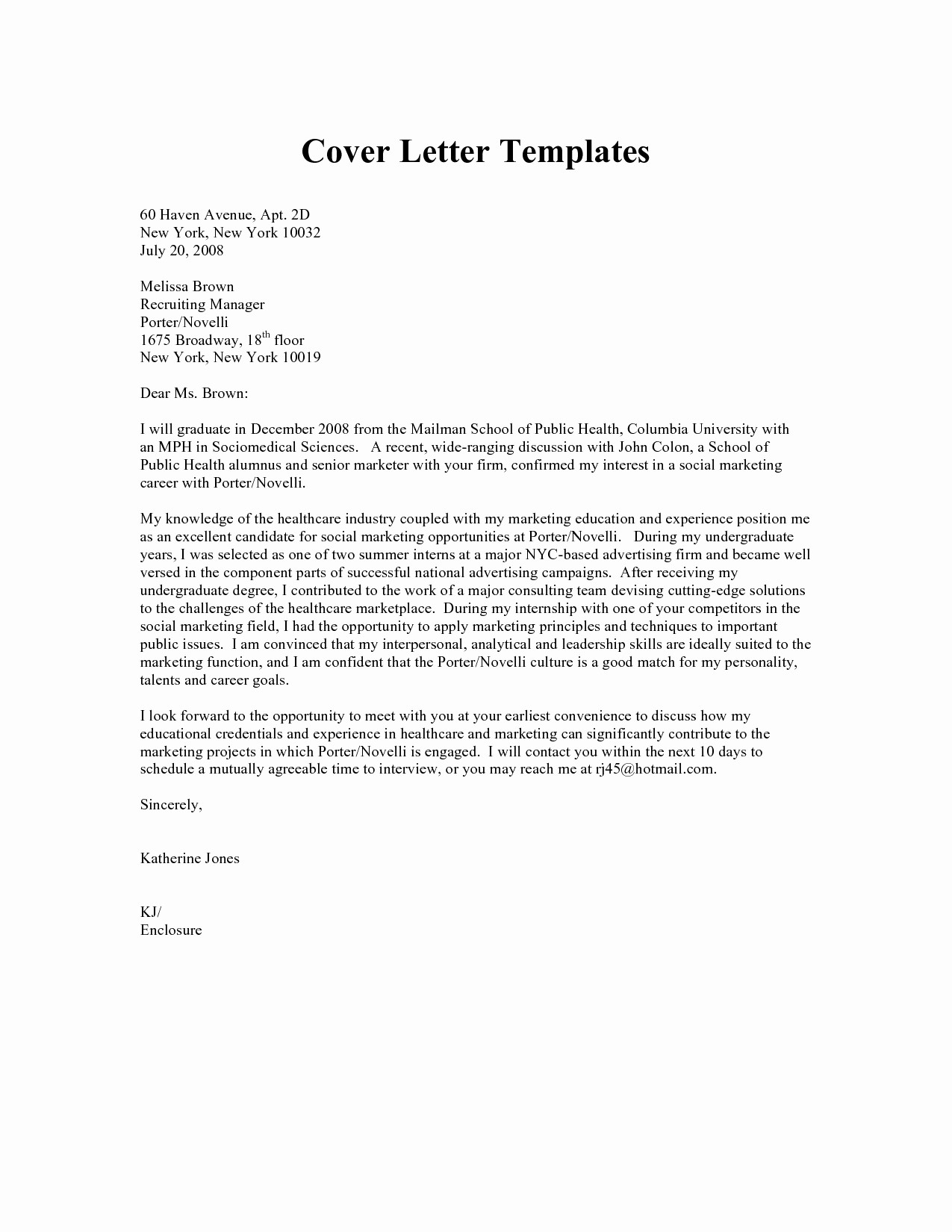 Cover Letter Template Healthcare - Healthcare Cover Letter Examples Inspirational Higher Education